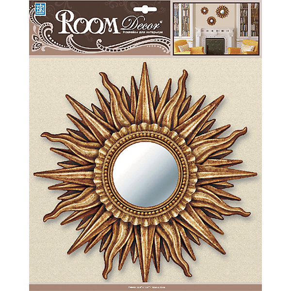 Декоративное зеркало среднее № 2, Room Decor, золотоДетские предметы интерьера<br>Характеристики:<br><br>• Предназначение: декор комнаты<br>• Серия: Зеркало<br>• Тематика наклеек: без рисунка<br>• Материал: картон, ПВХ<br>• Комплектация: наклейка в виде зеркала<br>• Форма: 3d<br>• Клейкая поверхность крепится на окрашенные стены, обои, двери, деревянные панели, стекло<br>• Не повреждают поверхность<br>• Устойчивы к выцветанию и истиранию<br>• Размеры (Д*Ш*В): 32*7*32 см<br>• Вес: 40 г<br>• Упаковка: блистер<br><br>Все наклейки выполнены из безопасного и нетоксичного материала – ПВХ. Прочная клеевая основа обеспечивает надежное прикрепление практически к любому виду горизонтальной или вертикальной поверхности, при этом не деформируя и не повреждая ее. Наклейки обладают влагоустойчивыми свойствами, поэтому они хорошо переносят влажную уборку. <br><br>Декоративное зеркало среднее № 2, Room Decor, золото состоит из 1 элемента, который представляют собой имитацию круглого зеркала, обрамленного золотистой рамой.<br><br>Декоративное зеркало среднее № 2, Room Decor, золото можно купить в нашем интернет-магазине.<br><br>Ширина мм: 320<br>Глубина мм: 70<br>Высота мм: 320<br>Вес г: 40<br>Возраст от месяцев: 36<br>Возраст до месяцев: 168<br>Пол: Унисекс<br>Возраст: Детский<br>SKU: 5512969