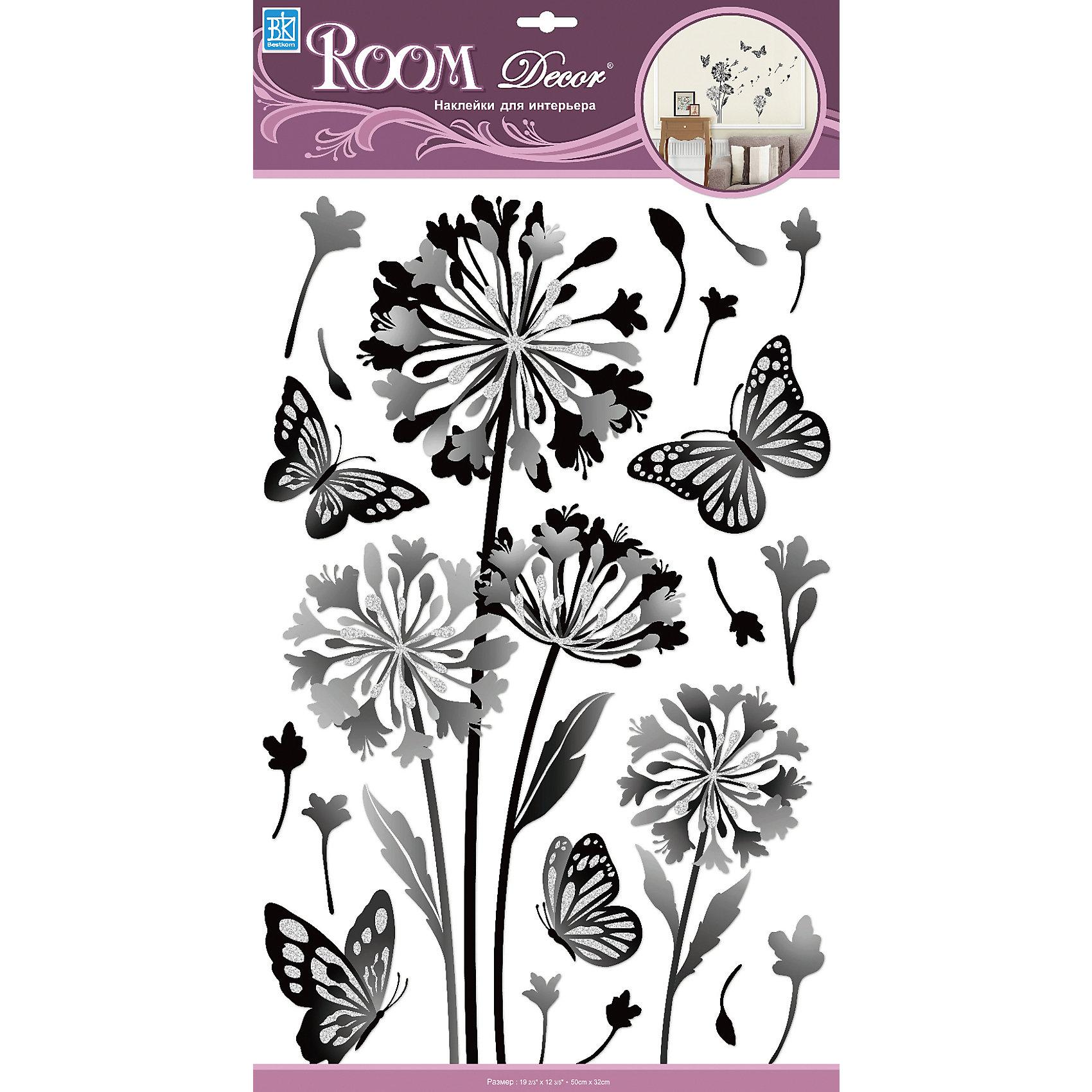 Наклейка Одуванчик с блестками RCA 9362, Room Decor от myToys