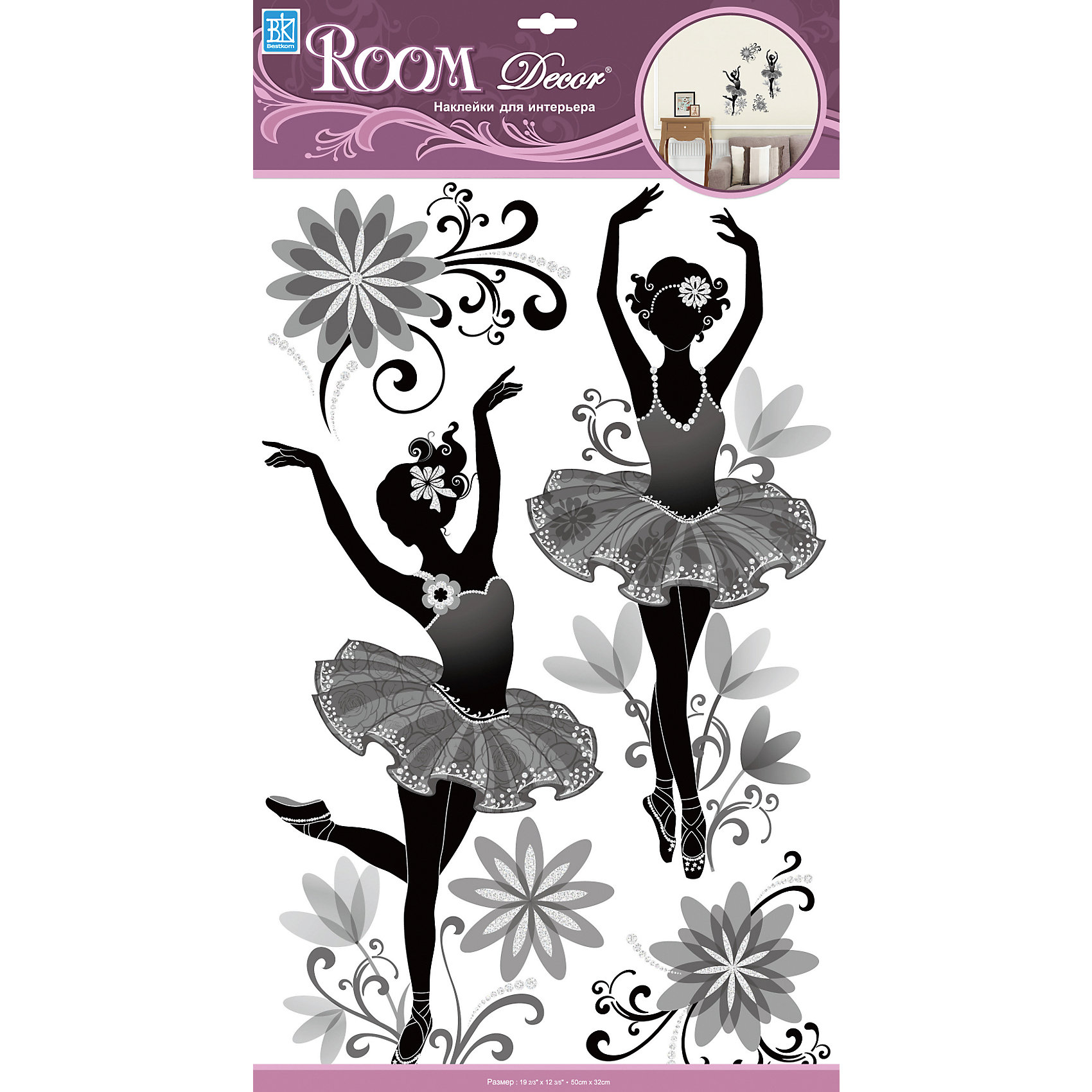 Наклейка Балерины RCA 9369, Room Decor от myToys