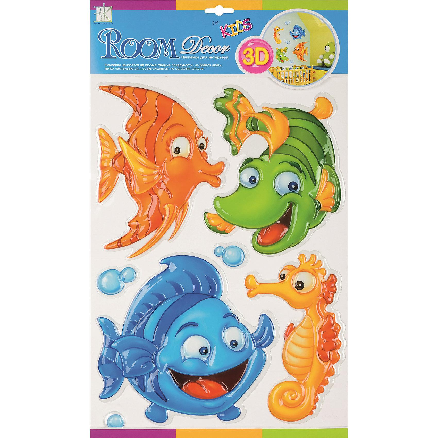 Наклейка Рыбки объемные POA1010, Room Decor от myToys