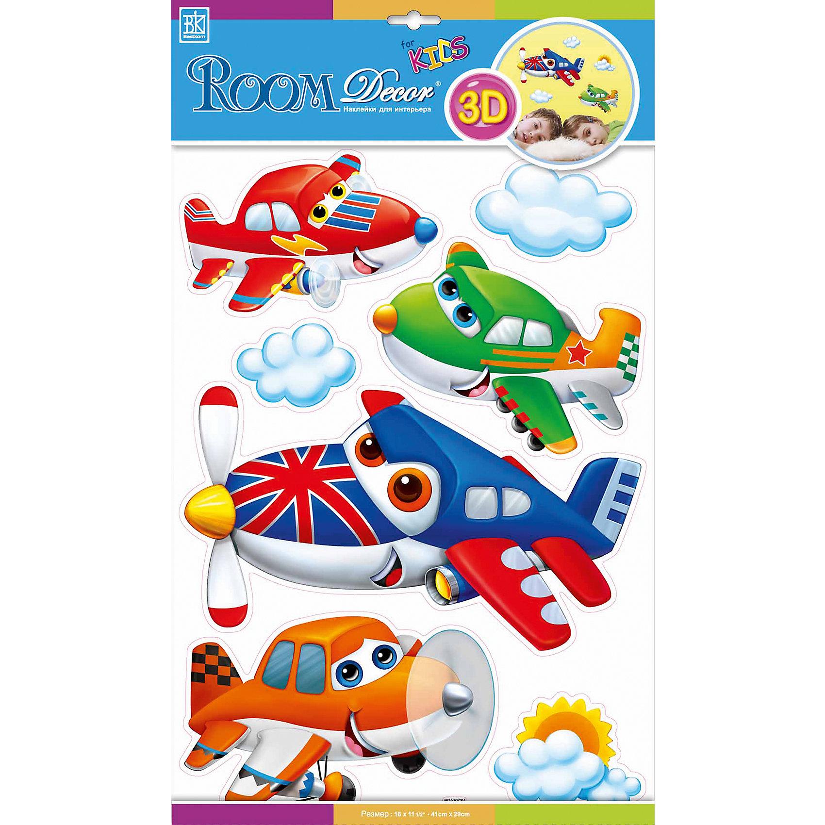 Наклейка Самолетики с глазками №2 POA1073, Room DecorПредметы интерьера<br>Характеристики:<br><br>• Предназначение: декор комнаты, создание творческой зоны в детской комнате<br>• Серия: Детские<br>• Тематика наклеек: самолеты<br>• Материал: картон, ПВХ<br>• Комплектация: 7 элементов<br>• Форма: 3d<br>• Объемные<br>• Клейкая поверхность крепится на окрашенные стены, обои, двери, деревянные панели, стекло<br>• Не повреждают поверхность<br>• Устойчивы к выцветанию и истиранию<br>• Повышенные влагостойкие свойства<br>• Размеры (Д*Ш*В): 30*7*42 см<br>• Вес: 50 г<br>• Упаковка: блистер<br><br>Все наклейки выполнены из безопасного и нетоксичного материала – ПВХ. Прочная клеевая основа обеспечивает надежное прикрепление практически к любому виду горизонтальной или вертикальной поверхности, при этом не деформируя и не повреждая ее. Наклейки обладают влагоустойчивыми свойствами, поэтому они хорошо переносят влажную уборку. <br><br>Наклейка Самолетики с глазками №2 POA1073, Room Decor состоит из набора, в который входят 7 элементов с изображением веселых самолетиков и вертолетиков. Набор выполнен в объемном формате, что придает всей композиции 3d эффект. <br><br>Наклейку Самолетики с глазками №2 POA1073, Room Decor можно купить в нашем интернет-магазине.<br><br>Ширина мм: 300<br>Глубина мм: 70<br>Высота мм: 420<br>Вес г: 50<br>Возраст от месяцев: 36<br>Возраст до месяцев: 168<br>Пол: Мужской<br>Возраст: Детский<br>SKU: 5513006