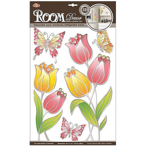 Наклейка Тюльпаны витраж POA8811, Room Decor от myToys