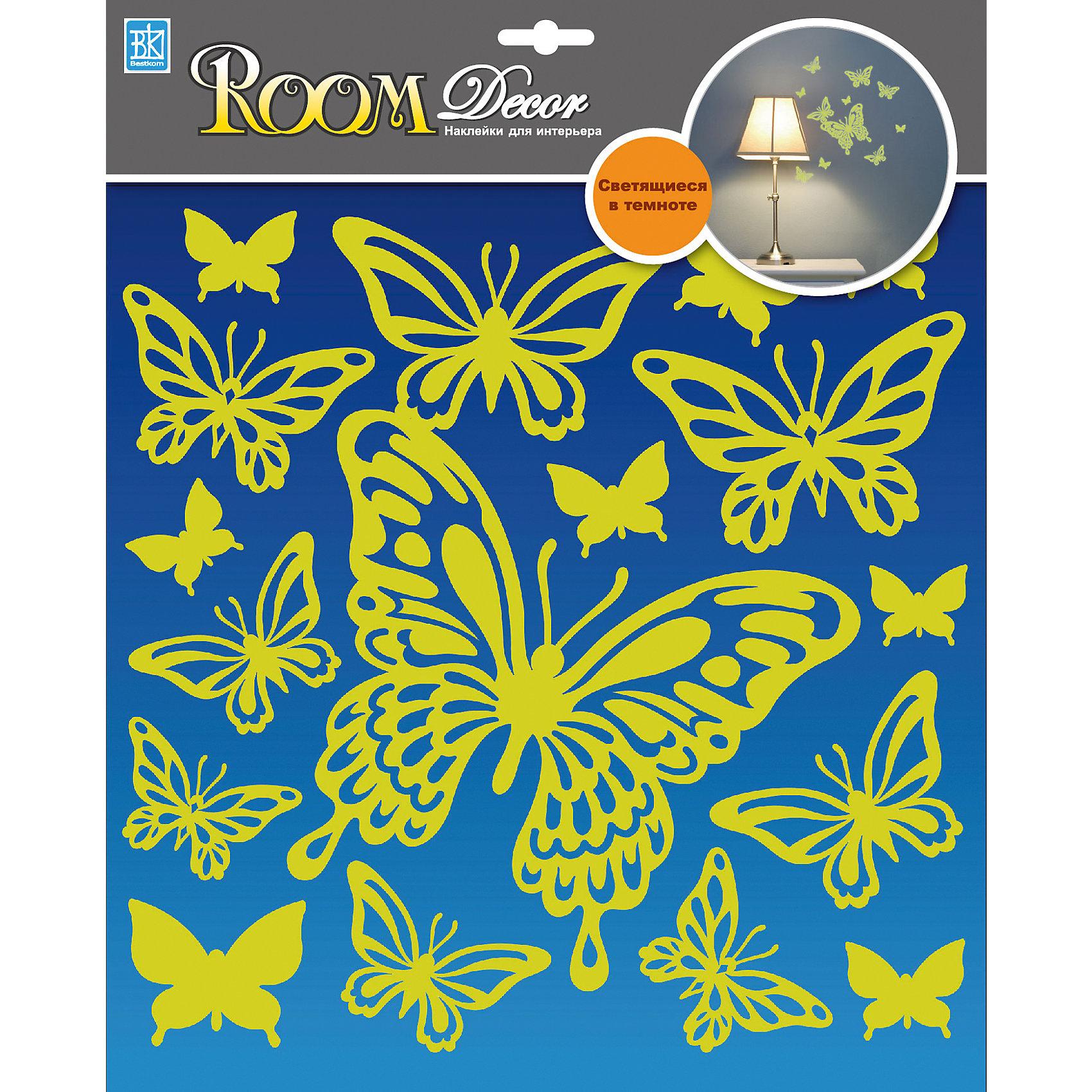 Наклейка Бабочки светящиеся RDA8302, Room Decor от myToys