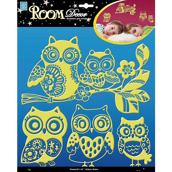 Наклейка Совки светящиеся RDA8319, Room Decor от myToys