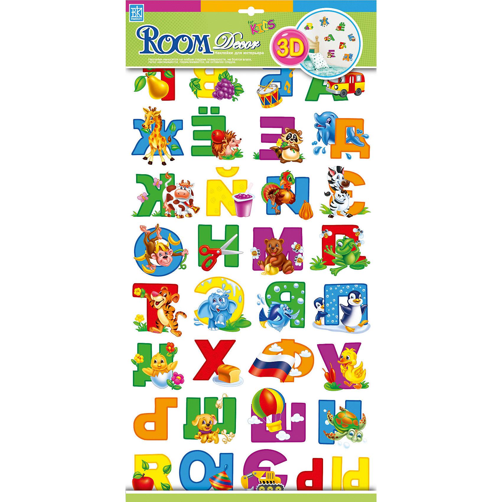 Наклейка Русский алфавит RRA1101, Room Decor от myToys