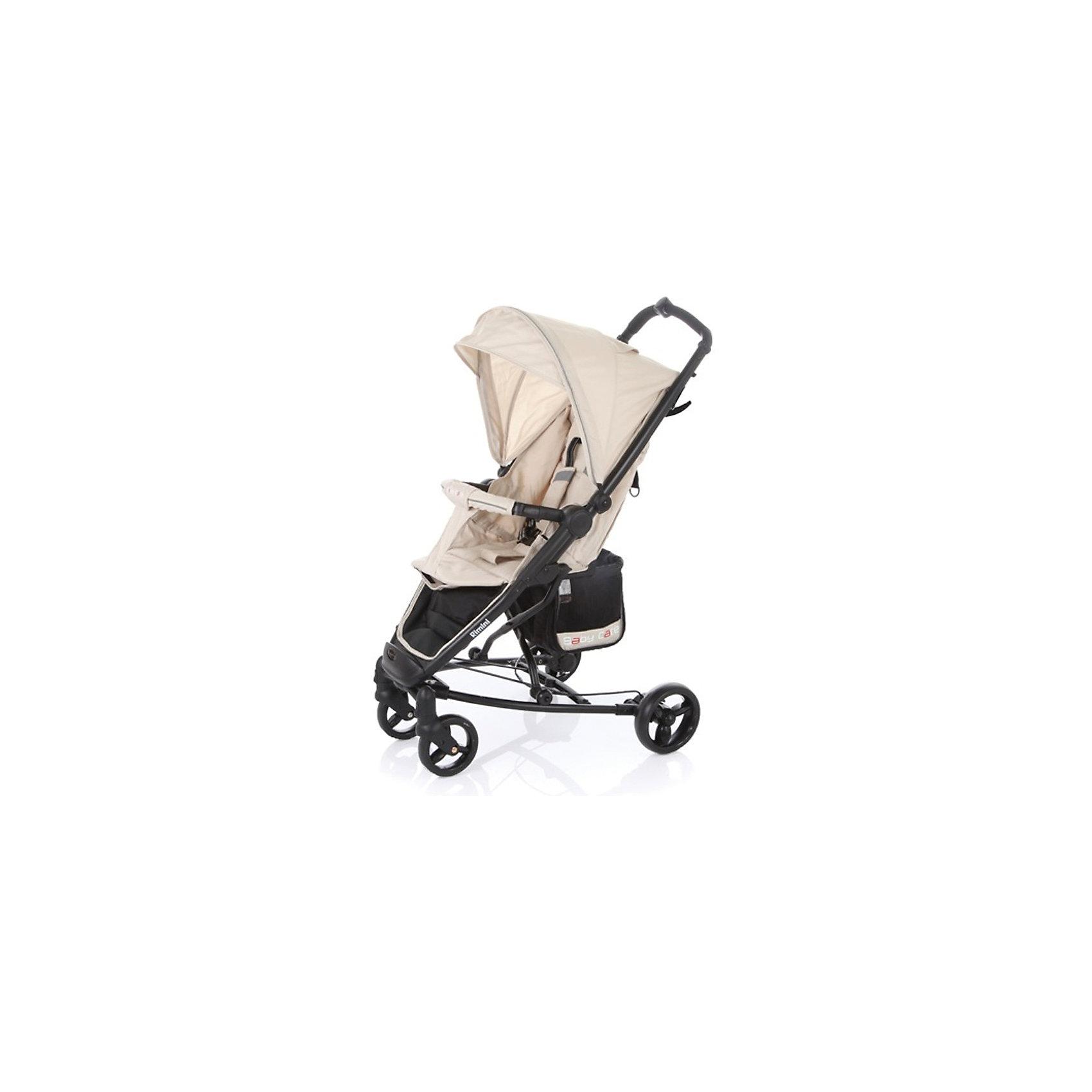 Прогулочная коляска Rimini, Baby Care, бежевыйBaby Care Rimini – современная городская прогулочная коляска. Сконструированая на легкой алюминиевой раме, данная модель – отличный выбор для молодой семьи. Большой капюшон со смотровым окошком снабжен дополнительным козырьком. Спинка моет раскладываться почти до горизонтального положения. Вкупе с подножкой, крепящейся с помощью перемычки к бамперу, получаем просторное спальное место.Rimini быстро и компактно складывается книжкой. Коляска не занимает много места и снабжена защитой от случайного раскладывания.Особенности:• легкая алюминиевая рама;• плавающие передние колеса с возможностью фиксации;• ножной барабанный тормоз на тросике;• регулируемая подножка;• 5-ти точеные ремни безопасности;• съемный бампер с мягкой обивкой;• коляска складывается в «книжку» одной рукой.Комплектация:• Чехол на ноги<br>Характеристики:• диаметр колес: передние – 15 см, задние — 17 см;• тип колес: одинарные;• механизм складывания: книжка;• ширина колесной базы: 59 см;• вес: 8,4 кг;• размер спального места: 73х30 см;• размер корзины: 20х20х25 см;• размеры: в разложенном виде: 51х82х102 см• в сложенном виде: 32х75х44 см.<br><br>Ширина мм: 760<br>Глубина мм: 230<br>Высота мм: 350<br>Вес г: 9400<br>Возраст от месяцев: 6<br>Возраст до месяцев: 48<br>Пол: Унисекс<br>Возраст: Детский<br>SKU: 5513638