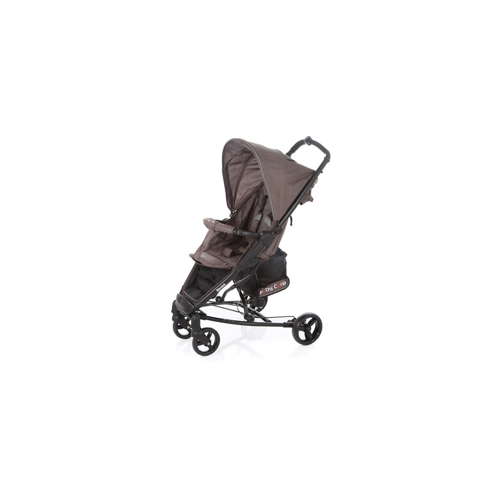 Прогулочная коляска Baby Care Rimini, кофейныйНедорогие коляски<br>Характеристики коляски:<br><br>• регулируется наклон спинки почти до горизонтального положения;<br>• регулируется подножка;<br>• 5-ти точечные ремни безопасности удерживают ребенка;<br>• имеется бампер с мягкой обивкой;<br>• капюшон оснащен смотровым окошком, имеется солнцезащитный козырек;<br>• чехол на ножки защищает от ветра и непогоды;<br>• передние плавающие колеса с фиксацией;<br>• ножной барабанный тормоз на тросике;<br>• тип складывания: книжка;<br>• предусмотрена защита от случайного раскладывания;<br>• материал рамы: алюминий.<br><br>Размер коляски: 51х82х102 см<br>Размер в сложенном виде: 32х75х44 см<br>Длина спального места: 73 см<br>Ширина сиденья: 30 см<br>Диаметр колес: 15 см, 17 см<br>Ширина колесной базы: 59 см<br>Размер корзины: 20х20х25 см<br>Вес коляски: 8,4 кг<br>Размер упаковки: 76х35х23 см<br>Вес в упаковке: 9,4 кг<br><br>Прогулочную коляску Rimini, Baby Care, цвет кофейный можно купить в нашем интернет-магазине.<br><br>Ширина мм: 760<br>Глубина мм: 230<br>Высота мм: 350<br>Вес г: 9400<br>Возраст от месяцев: 6<br>Возраст до месяцев: 48<br>Пол: Унисекс<br>Возраст: Детский<br>SKU: 5513640
