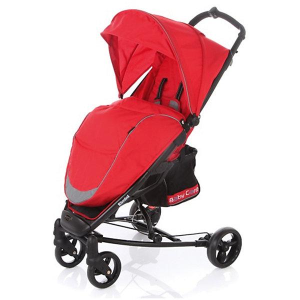 Прогулочная коляска Baby Care Rimini, красныйНедорогие коляски<br>Характеристики коляски:<br><br>• регулируется наклон спинки почти до горизонтального положения;<br>• регулируется подножка;<br>• 5-ти точечные ремни безопасности удерживают ребенка;<br>• имеется бампер с мягкой обивкой;<br>• капюшон оснащен смотровым окошком, имеется солнцезащитный козырек;<br>• чехол на ножки защищает от ветра и непогоды;<br>• передние плавающие колеса с фиксацией;<br>• ножной барабанный тормоз на тросике;<br>• тип складывания: книжка;<br>• предусмотрена защита от случайного раскладывания;<br>• материал рамы: алюминий.<br><br>Размер коляски: 51х82х102 см<br>Размер в сложенном виде: 32х75х44 см<br>Длина спального места: 73 см<br>Ширина сиденья: 30 см<br>Диаметр колес: 15 см, 17 см<br>Ширина колесной базы: 59 см<br>Размер корзины: 20х20х25 см<br>Вес коляски: 8,4 кг<br>Размер упаковки: 76х35х23 см<br>Вес в упаковке: 9,4 кг<br><br>Прогулочную коляску Rimini, Baby Care, цвет красный можно купить в нашем интернет-магазине.<br><br>Ширина мм: 760<br>Глубина мм: 230<br>Высота мм: 350<br>Вес г: 9400<br>Возраст от месяцев: 6<br>Возраст до месяцев: 48<br>Пол: Унисекс<br>Возраст: Детский<br>SKU: 5513641