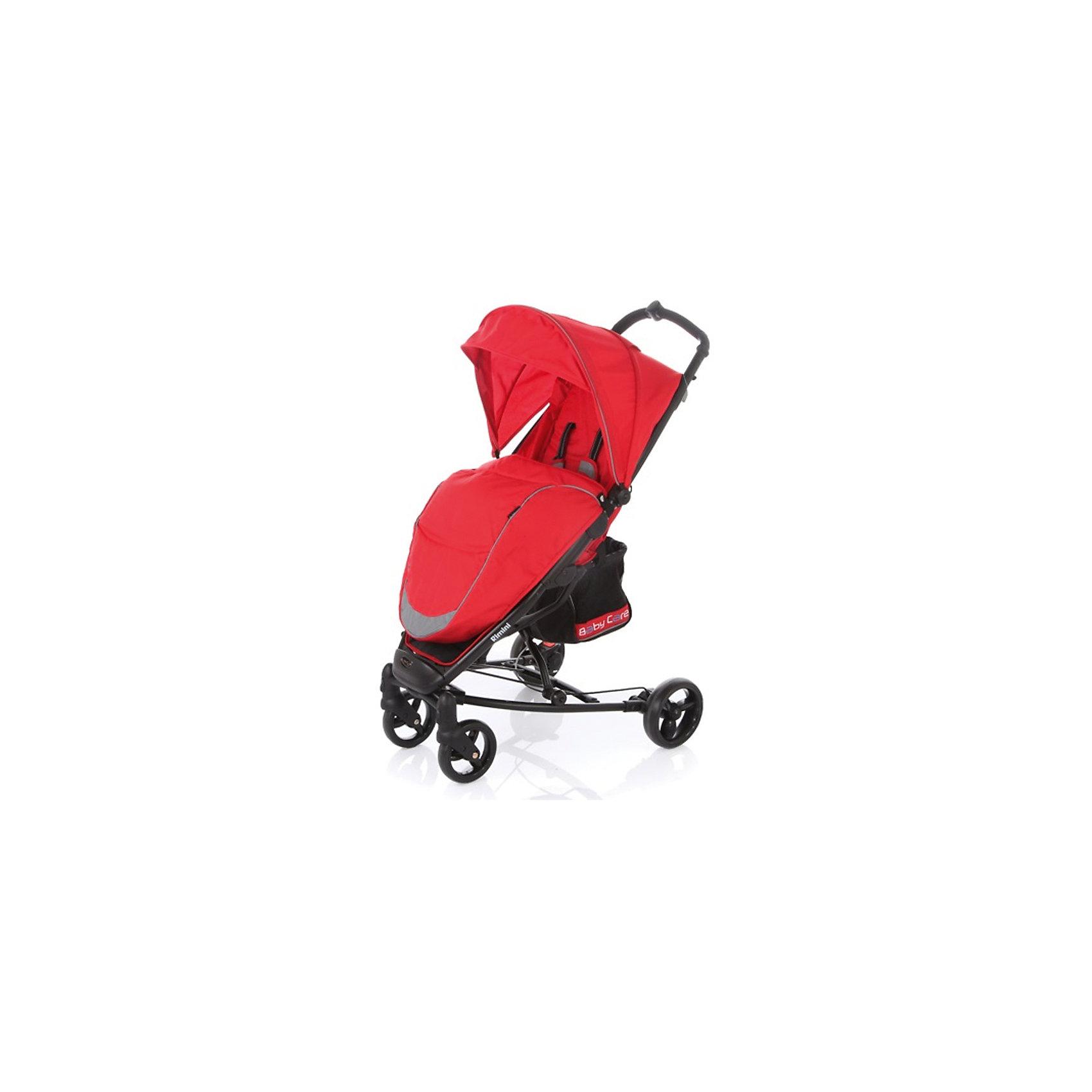 Прогулочная коляска Rimini, Baby Care, красныйBaby Care Rimini – современная городская прогулочная коляска. Сконструированая на легкой алюминиевой раме, данная модель – отличный выбор для молодой семьи. Большой капюшон со смотровым окошком снабжен дополнительным козырьком. Спинка моет раскладываться почти до горизонтального положения. Вкупе с подножкой, крепящейся с помощью перемычки к бамперу, получаем просторное спальное место.Rimini быстро и компактно складывается книжкой. Коляска не занимает много места и снабжена защитой от случайного раскладывания.Особенности:• легкая алюминиевая рама;• плавающие передние колеса с возможностью фиксации;• ножной барабанный тормоз на тросике;• регулируемая подножка;• 5-ти точеные ремни безопасности;• съемный бампер с мягкой обивкой;• коляска складывается в «книжку» одной рукой.Комплектация:• Чехол на ноги<br>Характеристики:• диаметр колес: передние – 15 см, задние — 17 см;• тип колес: одинарные;• механизм складывания: книжка;• ширина колесной базы: 59 см;• вес: 8,4 кг;• размер спального места: 73х30 см;• размер корзины: 20х20х25 см;• размеры: в разложенном виде: 51х82х102 см• в сложенном виде: 32х75х44 см.<br><br>Ширина мм: 760<br>Глубина мм: 230<br>Высота мм: 350<br>Вес г: 9400<br>Возраст от месяцев: 6<br>Возраст до месяцев: 48<br>Пол: Унисекс<br>Возраст: Детский<br>SKU: 5513641