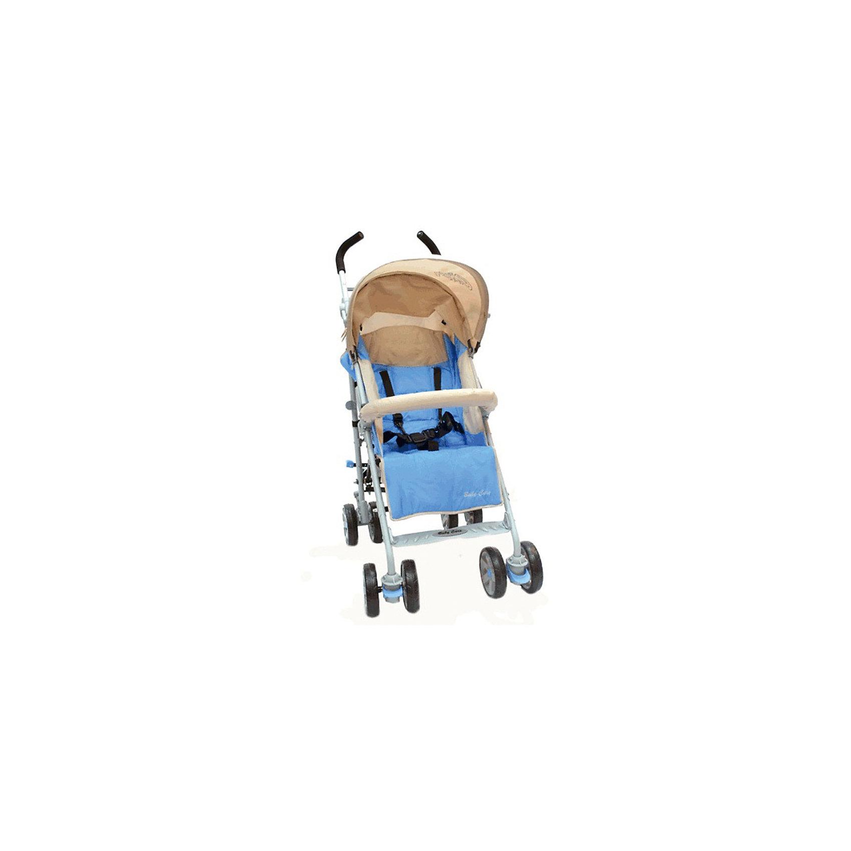 Коляска-трость Polo 107, Baby Care, светло-голубойBaby Care Polo – оригинальная коляска-трость. Стильная и маневренная, она отлично подходит как для городских прогулок, так и для выездов на природу.Хороший вариант «походной» коляски. Можно взять с собой на отдых. Коляска компактна в сложенном виде, не занимает много места в транспорте.Коляска достаточно проходима, чтобы ездить и по асфальту, и по траве. Кроме этого, весь прочий функционал тростей доступен и в этой модели. Спинка раскладывается до лежачего положения, подножка регулируется по высоте, а капюшон может опускаться до бампера.Особенности:• легкая алюминиевая рама;• большой капюшон опускается до бампера;• съемный бампер с мягкой накладкой;• спинка может раскладываться почти до горизонтального положения (до 170 градусов);• регулируемая подножка;• 5-точечные ремни безопасности;• передние колеса плавающие с возможностью фиксации;• стояночный тормоз на задней оси;• вместительная корзина для вещей;• коляска складывается тростью.Комплектация:• чехол на ноги;• дождевик.Характеристики:Диаметр колес:15 см Тип колес:сдвоенные, плотная резина Механизм складывания:трость Ширина колесной базы:51 см Вес: 8,5 кг Размеры:спальное место: 80x33 см высота спинки: 52 см высота до ручки: 107 см<br><br>Ширина мм: 1080<br>Глубина мм: 300<br>Высота мм: 200<br>Вес г: 9800<br>Возраст от месяцев: 6<br>Возраст до месяцев: 48<br>Пол: Унисекс<br>Возраст: Детский<br>SKU: 5513642