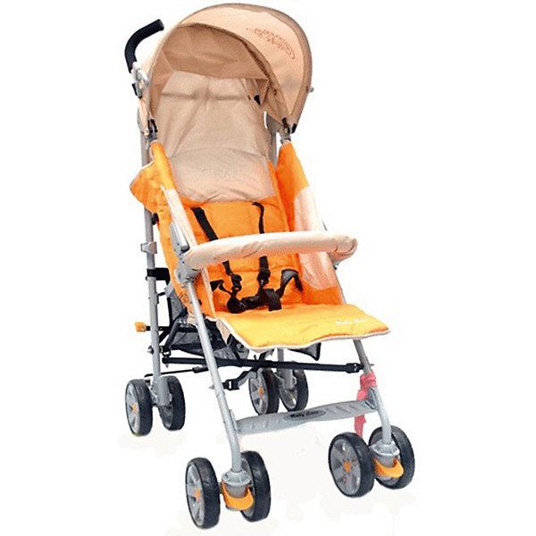 Коляска-трость Baby Care Polo 107, светло-оранжевыйПрогулочные коляски<br>Характеристики коляски-трости:<br><br>• спинка раскладывается почти до горизонтального положения, угол наклона 170 градусов;<br>• регулируемая подножка;<br>• 5-ти точечные ремни безопасности;<br>• съемный бампер с мягкой накладкой;<br>• капюшон опускается до бампера;<br>• чехол на ножки защищает ребенка в холодное время года;<br>• дождевик защищает от осадков;<br>• сдвоенные колеса из плотной резины;<br>• передние плавающие колеса с возможностью фиксации;<br>• стояночный тормоз на задней оси;<br>• механизм складывания: трость;<br>• материал рамы: алюминий. <br><br>Размер коляски: 51х80х107 см<br>Диаметр колес:15 см<br>Ширина колесной базы:51 см <br>Вес коляски: 8,5 кг <br>Длина спального места: 80 см<br>Ширина сиденья: 33 см<br>Высота спинки: 52 см <br>Высота до ручки: 107 см<br><br>Коляска Baby Care Polo подходит для городских прогулок и для выездов на природу. Хороший вариант «походной» коляски. В сложенном виде не занимает много места в транспорте. Коляска достаточно проходима, чтобы ездить и по асфальту, и по траве. Кроме этого, весь прочий функционал тростей доступен и в этой модели. Спинка раскладывается до лежачего положения, подножка регулируется по высоте, а капюшон может опускаться до бампера.<br><br>Коляску-трость Polo 107, Baby Care, цвет светло-оранжевый можно купить в нашем интернет-магазине.<br>Ширина мм: 1080; Глубина мм: 300; Высота мм: 200; Вес г: 9800; Возраст от месяцев: 6; Возраст до месяцев: 48; Пол: Унисекс; Возраст: Детский; SKU: 5513643;