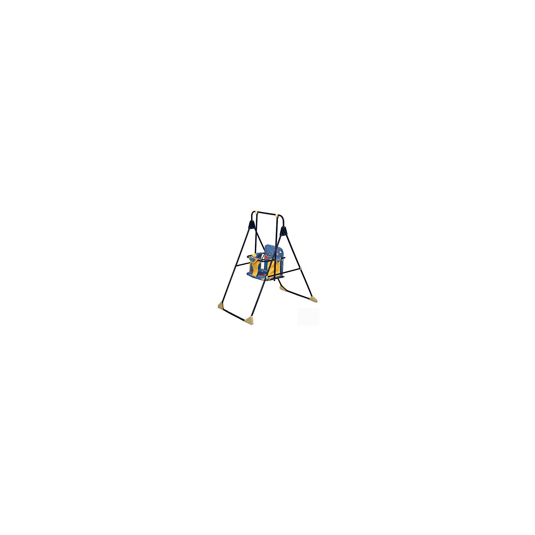 Качели напольные Ветерок, Globex, синийКачели напольные и подвесные<br>Характеристики:<br><br>• сиденье и спинка обтянуты поролоном и мягким материалом;<br>• рама окрашена порошковым напылением;<br>• перед ребенком расположен поручень;<br>• имеется перемычка между ног;<br>• компактны в сложенном виде.<br><br>Размер качелей: 56х72х107 см<br>Размер упаковки: 119х67х7,5 см<br>Вес: 3,8 кг<br><br>Напольные качели устанавливаются на ровную поверхность. Перед ребенком имеется перекладина, которая обеспечивает безопасность во время качания. Разделитель для ножек препятствует соскальзыванию малыша. На опорных стойках качели имеются прорезиненные накладки, которые предотвращают появление царапин на поверхности, где стоят качели. <br><br>Качели напольные Ветерок, Globex, цвет синий можно купить в нашем интернет-магазине.<br><br>Ширина мм: 1190<br>Глубина мм: 670<br>Высота мм: 75<br>Вес г: 3800<br>Возраст от месяцев: 12<br>Возраст до месяцев: 36<br>Пол: Унисекс<br>Возраст: Детский<br>SKU: 5513645