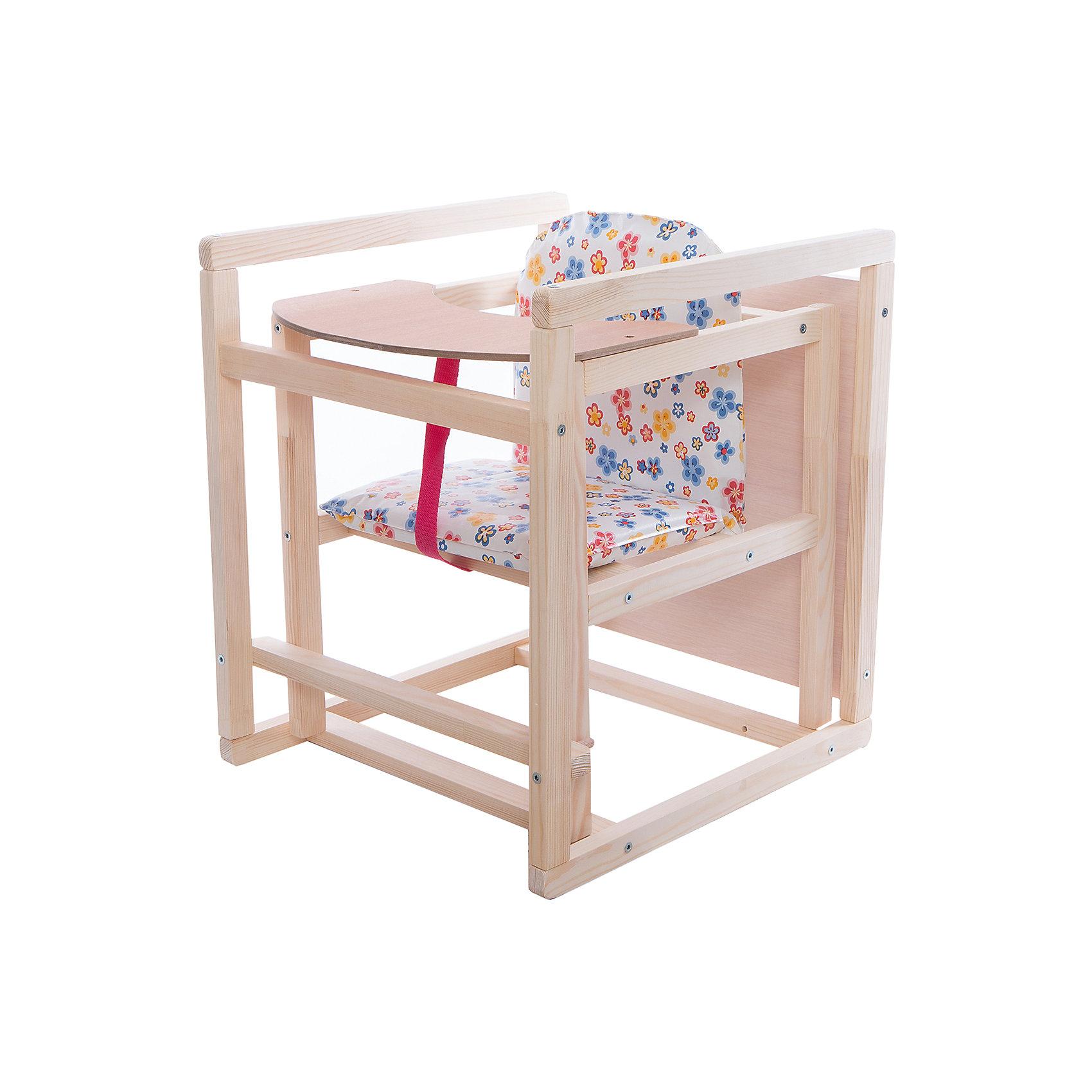 Стул комбинированный, массив сосны, синийтрансформеры<br>Характеристики:<br><br>• трансформер 2в1: низкий стульчик и столик с большой столешницей;<br>• стул оснащён упорами от заднего опрокидывания;<br>• имеется страховочный ремешок-разделитель;<br>• сиденье покрыто моющейся клеёнкой с  мягким наполнителем;<br>• столешница съемная;<br>• материал конструктивных элементов: массив сосны, <br>• материал столешницы: ДСП;<br>• покраска – лак на водной основе.<br><br>Размеры стульчика в собранном виде: 42х73х46,5 см<br>Размеры столика (стол-стул): 42х47х50 см<br>Размер упаковки: 49х40х12 см<br>Вес в упаковке: 4 кг<br><br>Комбинированный стул-трансформер 2в1 трансформируется в стульчик для кормления со съемной столешницей и отдельный стул с партой. Съёмную столешницу можно промыть под краном, а сиденье стульчика легко чистится влажной салфеткой. Большой размер столика рассчитан не только для кормления ребёнка, но и для игровой развивающей деятельности.<br><br>Рекомендации от производителя:<br><br>!  Применение растворителей не допускается.<br>!  Никогда не ставьте ребенка ножками на сиденье.<br>!  Обязательно устанавливайте стул-стол на ровной, устойчивой поверхности.  <br>!  Качание не допускается.<br>!  Не оставляйте ребенка без присмотра при высоком положении стула.<br>! Периодически проверяйте крепление винтов стульчика.   <br><br>Стул комбинированный, массив сосны, синий можно купить в нашем интернет-магазине.<br><br>Ширина мм: 490<br>Глубина мм: 400<br>Высота мм: 120<br>Вес г: 4000<br>Возраст от месяцев: 6<br>Возраст до месяцев: 36<br>Пол: Унисекс<br>Возраст: Детский<br>SKU: 5513646