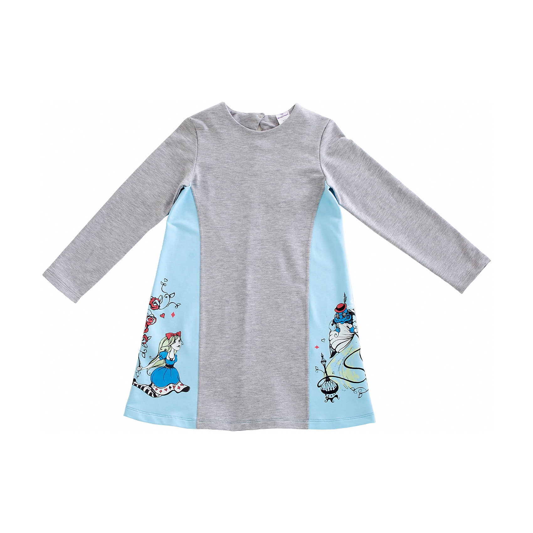 Платье для девочки МамуляндияПлатье для девочки Мамуляндия<br>Платье с длинным рукавом для девочки из дизайнерской коллекции Алиса.<br>Изготовлено трикотажного полотна высшего качества (футер).<br>Гипоаллергенный принт на водной основе, застёжка на спинке на кнопку из гипоаллергенного сплава без содержания никеля. <br><br>Состав 100% хлопок (футер). <br>Рекомендации по уходу: стирать при 40 С, гладить при средней температуре, носить с удовольствием!<br>Состав:<br>100% хлопок<br><br>Ширина мм: 236<br>Глубина мм: 16<br>Высота мм: 184<br>Вес г: 177<br>Цвет: голубой<br>Возраст от месяцев: 72<br>Возраст до месяцев: 84<br>Пол: Женский<br>Возраст: Детский<br>Размер: 122,92,98,104,110,116<br>SKU: 5513831
