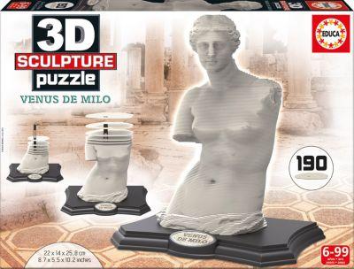 Скульптурный пазл Венера Милосская 3D, 190 деталей, Educa фото-1