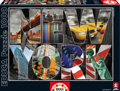Пазл Нью-Йорк, коллаж , 1000 деталей, Educa