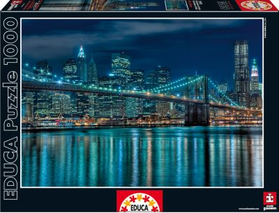Пазл Манхеттен ночью , 1000 деталей, Educa