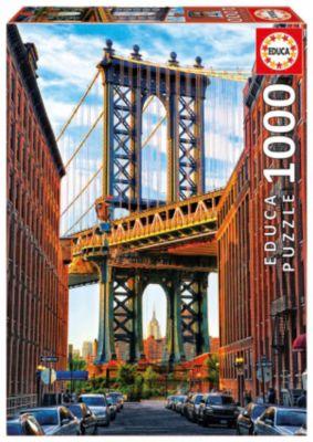 Пазл Манхэттенский мост, Нью-Йорк , 1000 деталей, Educa