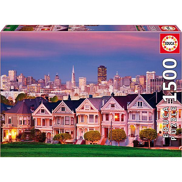 Пазл Викторианские дома, Сан-Франциско, 1500 деталей, EducaПазлы классические<br>Характеристики товара:<br><br>• возраст: от 6 лет;<br>• количество деталей: 1500;<br>• размер собранной картины: 85х60 см.;<br>• наличие клея: в комплекте;<br>• материал: картон;<br>• упаковка: картонная каробка;<br>• вес: 1,1 кг.;<br>• бренд, страна бренда: Educa (Эдука), Испания;<br>• страна-производитель: Испания.<br>                                                                                                                                                                                                                                                                                                                       <br>Пазл «Викторианские дома», состоящий из 1500 элементов, придется по душе всей вашей семье, ведь собрав этот пазл, вы получите великолепную картину, которая отлично впишется в интерьер любого помещения.<br><br>Пазл выполнен из высококачественных материалов, что обеспечивает идеальное прилегание элементов друг к другу. В комплекте специальный сухой клей, чтобы после сборки склеить части мозайки и сохранить прочность собранной картины на долгое время.<br><br>Собирание пазлов это не только интересно, но и полезно: ведь в процессе создания картинки развивается мелкая моторика, тренируются наблюдательность и логическое мышление.<br><br>Испанская компания Educa Borras, SA выпускает пазлы различной сложности и имеет уникальный сервис: бесплатную доставку в любую точку мира потерянной детали.<br><br>Пазл «Викторианские дома», 1500 деталей,  Educa (Эдука) можно купить в нашем интернет-магазине.<br><br>Ширина мм: 430<br>Глубина мм: 300<br>Высота мм: 55<br>Вес г: 1164<br>Возраст от месяцев: 60<br>Возраст до месяцев: 2147483647<br>Пол: Унисекс<br>Возраст: Детский<br>SKU: 5514285
