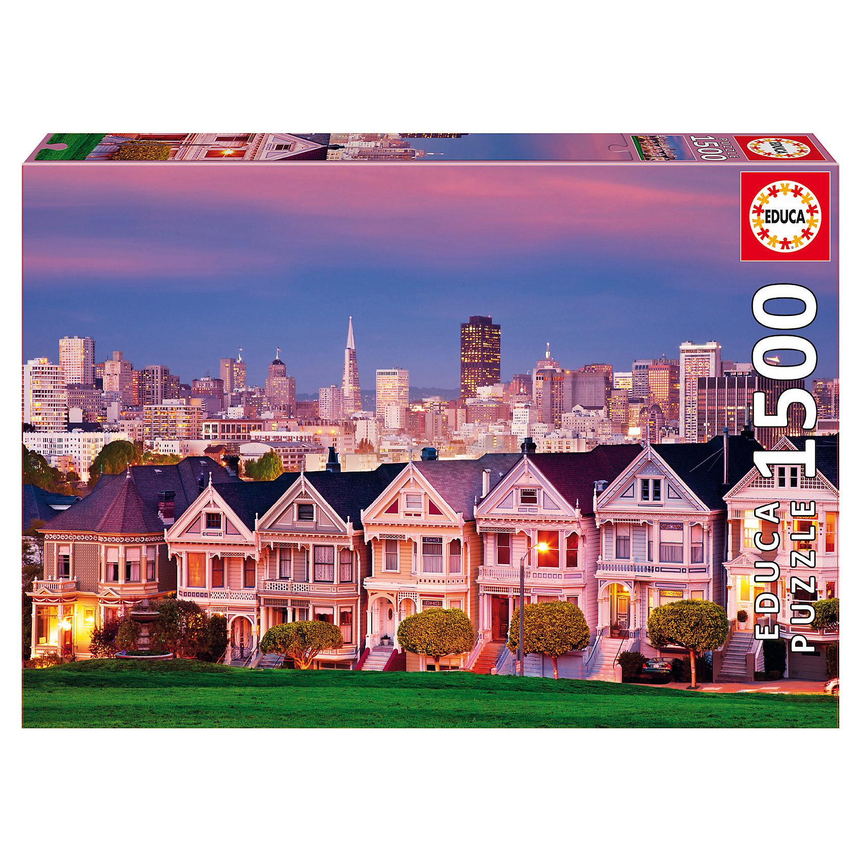 Пазл Викторианские дома, Сан-Франциско, 1500 деталей, EducaКлассические пазлы<br><br><br>Ширина мм: 430<br>Глубина мм: 300<br>Высота мм: 55<br>Вес г: 1164<br>Возраст от месяцев: 60<br>Возраст до месяцев: 2147483647<br>Пол: Унисекс<br>Возраст: Детский<br>SKU: 5514285