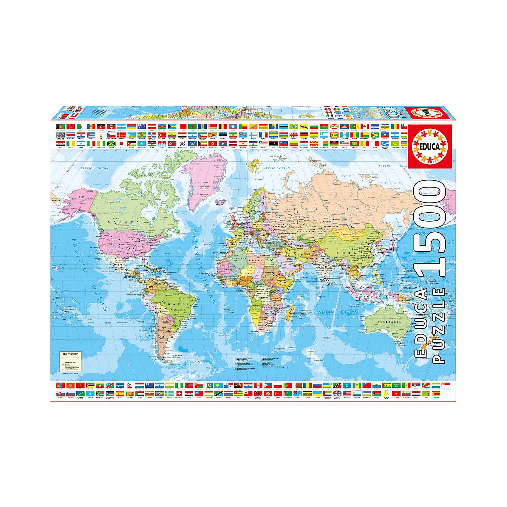 Пазл Политическая карта мира, 1500 деталей, EducaКлассические пазлы<br><br><br>Ширина мм: 430<br>Глубина мм: 300<br>Высота мм: 55<br>Вес г: 1164<br>Возраст от месяцев: 60<br>Возраст до месяцев: 2147483647<br>Пол: Унисекс<br>Возраст: Детский<br>SKU: 5514288