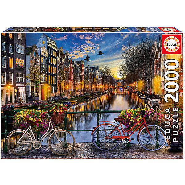 Пазл Амстердам, 2000 деталей, EducaПазлы классические<br>Характеристики товара:<br><br>• возраст: от 6 лет;<br>• количество деталей: 2000;<br>• размер собранной картины: 96х68 см.;<br>• наличие клея: нет в комплекте;<br>• материал: картон;<br>• упаковка: картонная каробка;<br>• вес: 1,3 кг.;<br>• бренд, страна бренда: Educa (Эдука), Испания;<br>• страна-производитель: Испания.<br>                                                                                                                                                                                                                                                                                                                       <br>Пазл «Амстердам», состоящий из 2000 элементов, придется по душе всей вашей семье, ведь собрав этот пазл, вы получите великолепную картину, которая отлично впишется в интерьер любого помещения.<br><br>Пазл выполнен из высококачественных материалов, что обеспечивает идеальное прилегание элементов друг к другу. <br><br>Собирание пазлов это не только интересно, но и полезно: ведь в процессе создания картинки развивается мелкая моторика, тренируются наблюдательность и логическое мышление.<br><br>Испанская компания Educa Borras, SA выпускает пазлы различной сложности и имеет уникальный сервис: бесплатную доставку в любую точку мира потерянной детали.<br><br>Пазл «Амстердам», 2000 деталей,  Educa (Эдука) можно купить в нашем интернет-магазине.<br>Ширина мм: 430; Глубина мм: 300; Высота мм: 55; Вес г: 1378; Возраст от месяцев: 60; Возраст до месяцев: 2147483647; Пол: Унисекс; Возраст: Детский; SKU: 5514292;
