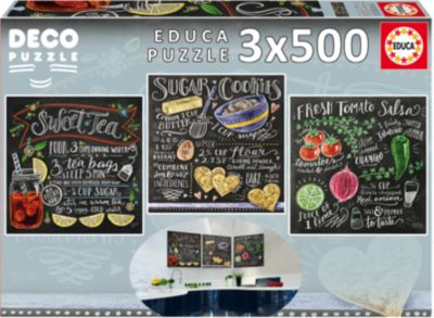 Пазлы Рецепты, 500 деталей, Educa