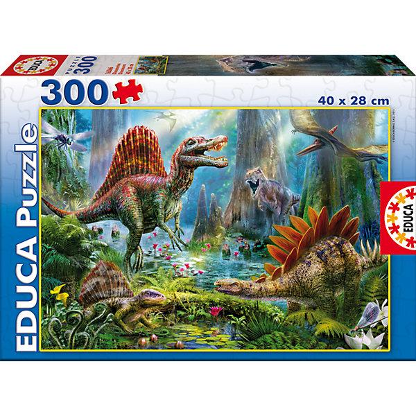 Пазл Динозавры, 300 деталей, EducaПазлы классические<br>Характеристики товара:<br><br>• возраст: от 6 лет;<br>• количество деталей: 300;<br>• размер собранной картины: 40х28 см.;<br>• наличие клея: нет в комплекте;<br>• материал: картон;<br>• упаковка: картонная каробка;<br>• вес: 930 гр.;<br>• бренд, страна бренда: Educa (Эдука), Испания;<br>• страна-производитель: Испания.<br>                                                                                                                                                                                                                                                                                                                       <br>Пазл «Динозавры», состоящий из 300 элементов, придется по душе всей вашей семье. Собрав этот пазл, вы получите великолепную цветную картину с  изображением реалистичных динозавров. <br><br>Пазл выполнен из высококачественных материалов, что обеспечивает идеальное прилегание элементов друг к другу. <br><br>Собирание пазлов это не только интересно, но и полезно: ведь в процессе создания картинки развивается мелкая моторика, тренируются наблюдательность и логическое мышление.<br><br>Испанская компания Educa Borras, SA выпускает пазлы различной сложности и имеет уникальный сервис: бесплатную доставку в любую точку мира потерянной детали.<br><br>Пазл «Динозавры», 300 деталей,  Educa (Эдука) можно купить в нашем интернет-магазине.<br>Ширина мм: 215; Глубина мм: 315; Высота мм: 45; Вес г: 364; Возраст от месяцев: 36; Возраст до месяцев: 2147483647; Пол: Унисекс; Возраст: Детский; SKU: 5514306;