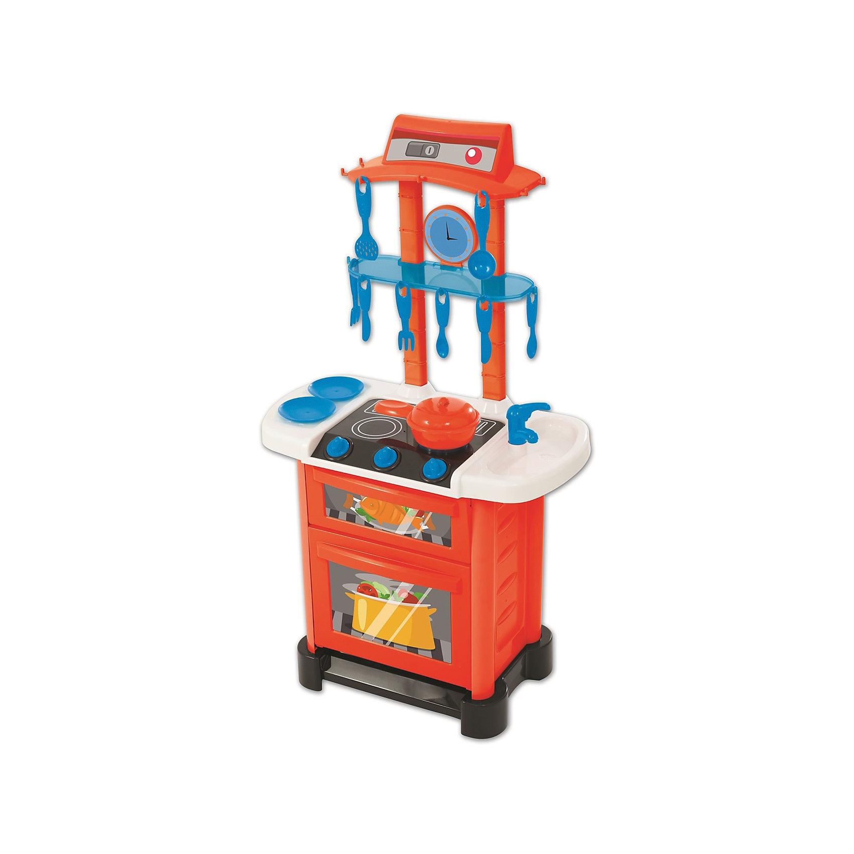 Электронная Кухня Smart, HTIДетские кухни<br>Характеристики товара:<br><br>• Материал: пластик<br>• Возраст: от 3-х лет<br>• Наличие батареек: не входят в комплект.<br>• Тип батареек: 3 х AA / LR6 1.5V (пальчиковые).<br>• Высота кухни: 87 см<br>• Размер кухни 87х50х26 см<br>• Размер упаковки 51х31х14 см<br>• Вес упаковки 2 кг<br>• Страна производитель: Китай<br><br>Электронная кухня Smart HTI — детская кухня для маленькой хозяйки, которая познакомит ее с устройством бытовых приборов, а также позволит попробовать себя настоящим поваром. С ее помощью девочка сможет приготовить самые вкусные блюда. Кухня оборудована раковиной, варочной панелью и духовым шкафом. У духовки открываются дверцы. Все необходимые столовые приборы будут у маленькой хозяйки всегда под рукой, так как для них приспособлены крючки.<br><br>Игрушка оснащена звуковыми эффектами. Во время приготовления слышно звук шипения при жарке и кипящего бульона. Для работы звуковых эффектов требуются 3 батарейки АА (в комплект не входят). Кухня изготовлена из качественного безвредного пластика. В наборе кухня, варочная панель, раковина, духовой шкаф, столовые приборы, тарелки, кастрюля.<br><br>Электронную кухню Smart HTI можно приобрести в нашем интернет-магазине.<br><br>Ширина мм: 510<br>Глубина мм: 310<br>Высота мм: 140<br>Вес г: 2000<br>Возраст от месяцев: 36<br>Возраст до месяцев: 2147483647<br>Пол: Унисекс<br>Возраст: Детский<br>SKU: 5514326