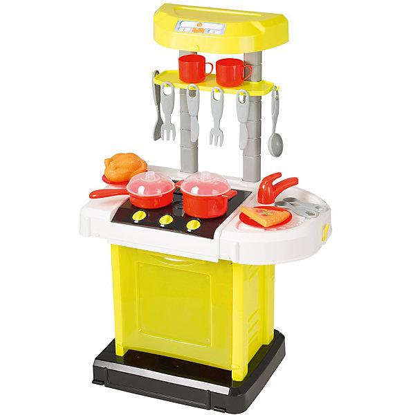 Электронная портативная кухня HTI SmartДетские кухни<br>Характеристики товара:<br><br>• Материал: пластик<br>• Возраст: от 3 лет<br>• Тип батареек: 3 х АА / LR6 1.5V (пальчиковые)<br>• Наличие батареек: не входят в комплект<br>• Высота кухни: 65 см<br>• Размер кухни 65х41,5х24,8 см<br>• Размер упаковки 48х31х10 см<br>• Вес упаковки 2 кг<br>• Страна бренда: Великобритания<br>• Страна производитель: Китай<br><br>Электронная портативная кухня Smart HTI — детская кухня для юной хозяйки с варочной панелью и набором посуды. Она познакомит девочку с устройством бытовых приборов и позволит попробовать себя настоящим поваром и приготовить вкусные блюда. Игрушка оснащена световыми и звуковыми эффектами, делая игру реалистичней. Во время приготовления горят конфорки, слышны звуки масла на сковороде и кипящего бульона. Все столовые приборы повешены на крючки. После приготовления посуду можно помыть в раковине.<br><br>Кухня изготовлена из качественного пластика. Для работы звуковых и световых эффектов требуются 3 батарейки АА (в комплект не входят). Складывается в чемодан для хранения, ее можно взять в гости к друзьям или в поездку на дачу. В наборе кухня, раковина, варочная панель, набор посуды, кастрюли, пицца, курица.<br><br>Электронную портативную кухню Smart HTI можно приобрести в нашем интернет-магазине.<br>Ширина мм: 870; Глубина мм: 260; Высота мм: 500; Вес г: 2000; Возраст от месяцев: 36; Возраст до месяцев: 2147483647; Пол: Женский; Возраст: Детский; SKU: 5514327;