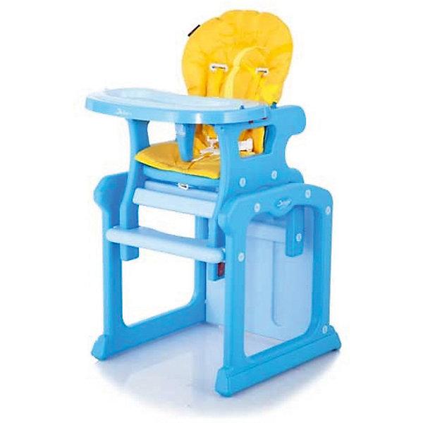 Стульчик-трансформер Gracia, Jetem, желтыйСтульчики для кормления<br>Характеристики стульчика: <br><br>• стульчик-трансформер: стульчик для кормления и стульчик с партой;<br>• дополнительная столешница;<br>• регулируемый наклон спинки: 3 положения;<br>• регулируемая глубина столешницы, 3 положения;<br>• 5-ти точечные ремни безопасности;<br>• съемный ограничитель между ног;<br>• матерчатая «дышащая» обивка легко снимается для очистки;<br>• компактное складывание;<br>• материал: нетоксичный пластик и мягкое моющееся покрытие.<br><br>Размер стульчика: 57х52х100 см<br>Высота спинки стульчика: 105 см<br>Ширина сидения: 54 см<br>Размеры сидения: 30х60 см<br>Вес: 10,5 кг<br>Размер упаковки: 63х33х57 см<br>Вес в упаковке: 11,3 кг<br><br>Трансформер 2в1 представляет собой стульчик для кормления для деток от полугода и стульчик с партой для детей от полутора до трех лет. Мягкое сиденье эргономичной формы, удерживающие ремни безопасности, удобные подлокотники. Имеется съемная столешница для приема пищи. Сидя за партой, ребенок может рисовать, складывать пазлы, смотреть иллюстрации в книжках. <br><br>Стульчик-трансформер Gracia, Jetem, желтый можно купить в нашем интернет-магазине.<br>Ширина мм: 630; Глубина мм: 330; Высота мм: 570; Вес г: 11300; Возраст от месяцев: 6; Возраст до месяцев: 72; Пол: Унисекс; Возраст: Детский; SKU: 5514384;