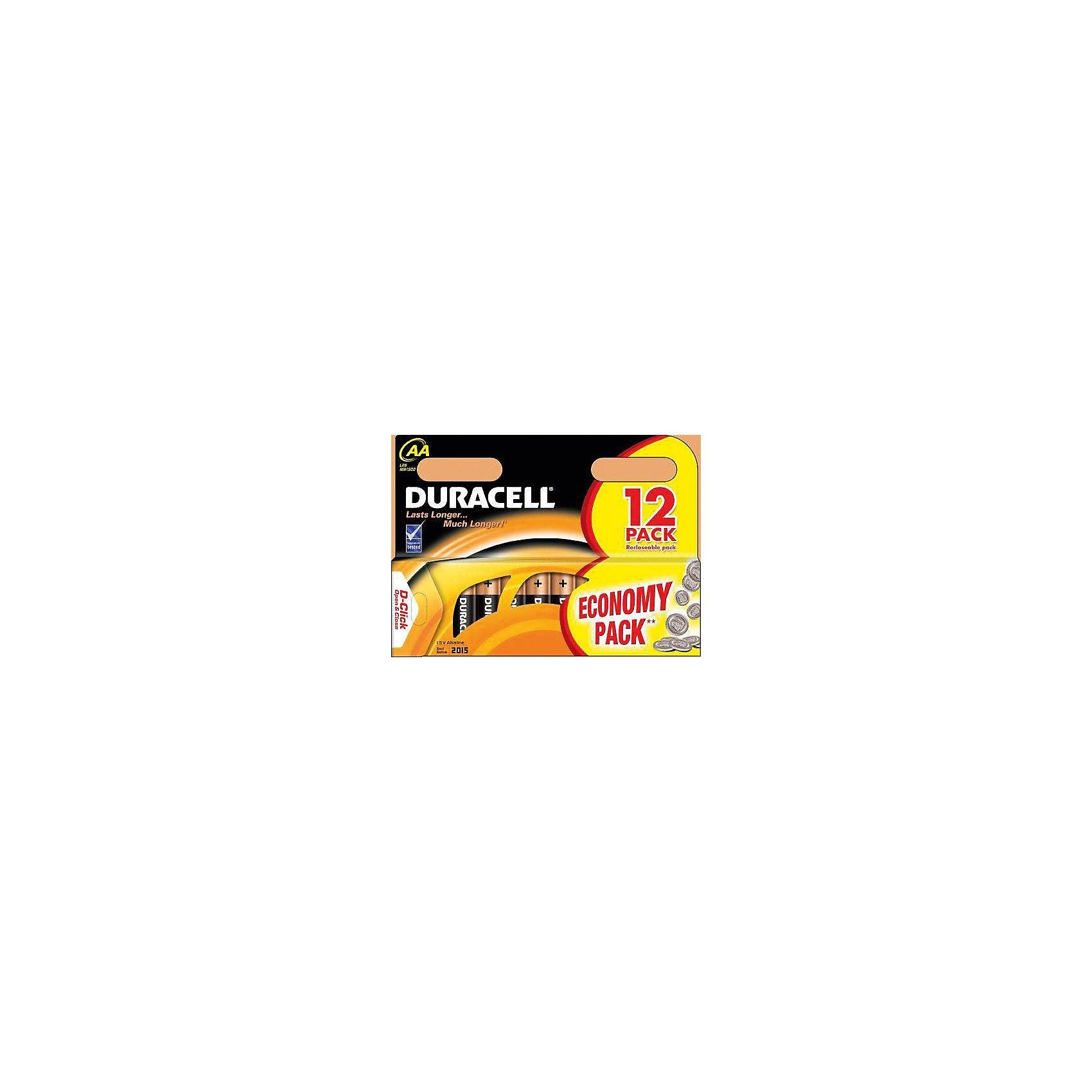 Батарейки алкалиновые Basic 1.5V LR6, тип AA, 12шт., DURACELLДетская электроника<br>Характеристики:<br><br>• Тип электролита: алкалиновые<br>• Тип по питанию: АА <br>• Комплектация: 12 батареек<br>• Вес в упаковке: 300 г<br>• Размеры упаковки (Д*Ш*В): 17*12*15 см<br>• Упаковка: картонная коробка с европодвесом <br><br>DURACELL Basic AA Батарейки алкалиновые 1.5V LR6 12 шт. от всемирно известного торгового бренда DURACELL, который является создателем первой щелочной батарейки. Щелочные батарейки отличаются более длительным сроком службы, повышенной герметичностью, благодаря чему батарейки от  DURACELL не протекают. <br><br>Элементы питания хорошо переносят низкие температуры, сохраняя при этом свои свойства и качества. Набор выполнен в варианте экономичной упаковки, включающей в себя 12 батареек. DURACELL Basic AA Батарейки алкалиновые 1.5V LR6 12 шт. – это длительный срок службы и бесперебойность в работе портативных электронных устройств!<br><br>DURACELL Basic AA Батарейки алкалиновые 1.5V LR6 12 шт. можно купить в нашем интернет-магазине.<br><br>Ширина мм: 170<br>Глубина мм: 120<br>Высота мм: 1500<br>Вес г: 300<br>Возраст от месяцев: 60<br>Возраст до месяцев: 1188<br>Пол: Унисекс<br>Возраст: Детский<br>SKU: 5514790
