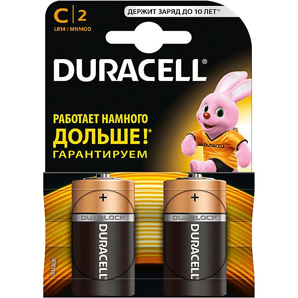 Батарейки алкалиновые Basic 1.5V LR14, тип AA, 2шт., DURACELLДетские гаджеты<br>Характеристики:<br><br>• Тип электролита: алкалиновые<br>• Тип по питанию: АА <br>• Комплектация: 2 батарейки<br>• Вес в упаковке: 100 г<br>• Размеры упаковки (Д*Ш*В): 17*2,6*2,6 см<br>• Упаковка: картонная коробка с европодвесом <br><br>Батарейки алкалиновые Basic 1.5V LR14, тип AA, 2 шт., DURACELL от всемирно известного торгового бренда DURACELL, который является создателем первой щелочной батарейки. Щелочные батарейки отличаются более длительным сроком службы, повышенной герметичностью, благодаря чему батарейки от  DURACELL не протекают. <br><br>Элементы питания хорошо переносят низкие температуры, сохраняя при этом свои свойства и качества. В наборе предусмотрены две батарейки. Батарейки алкалиновые Basic 1.5V LR14, тип AA, 2 шт., DURACELL – это длительный срок службы и бесперебойность в работе портативных электронных устройств!<br><br>Батарейки алкалиновые Basic 1.5V LR14, тип AA, 2 шт., DURACELL можно купить в нашем интернет-магазине.<br><br>Ширина мм: 50<br>Глубина мм: 26<br>Высота мм: 26<br>Вес г: 100<br>Возраст от месяцев: 60<br>Возраст до месяцев: 1188<br>Пол: Унисекс<br>Возраст: Детский<br>SKU: 5514791