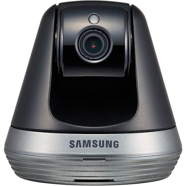 Видеоняня Samsung Wi-Fi SmartCam SNH-V6410PNВидеоняни<br>Видеоняня Wi-Fi SmartCam SNH-V6410PN, Samsung (Самсунг)<br><br>Характеристики:<br><br>• подходит для планшетов, смартфонов и компьютеров<br>• доступ из любой точки мира<br>• высокое качество изображения в формате Full HD 1080p<br>• автоматическое оповещение при плаче или движении<br>• автоматическое включение ночного видения<br>• несколько зон отслеживания<br>• удаленное управление поворотом камеры<br>• двухсторонняя связь<br>• возможность записи<br>• поддержка iOS 6 (или выше), Android, Windows, Mac<br>• регулировка наклона<br>• в комплекте: камера, адаптер, инструкция<br>• сеть: 802.11 b/g/n Wi-Fi<br>• размер камеры: 8,5х8,5х8,4 см<br>• размер упаковки: 24х10х10 см<br>• вес: 600 грамм<br><br>SNH-V6410PN - современная видеоняня, с которой вы всегда будете уверены в безопасности ребенка. Модель совместима с планшетами, компьютерами и смартфонами, практически с любой операционной системой. В случае обнаружения плача или движения видеоняня подает сигнал на ваше устройство. <br><br>В темное время суток включается режим ночного видения. Изображение в формате Full HD 1080p порадует вас качественной картинкой. Камера автоматически поворачивается, следуя за движением ребенка. Также, вы сможете управлять поворотом камеры со своего мобильного устройства.<br><br>Видеоняня оснащена возможностью записи видео и фото.  Есть слот для карты памяти SDXC. Камера оснащена автоматической компенсацией изображения при повышенной яркости.<br><br>Видеоняню Wi-Fi SmartCam SNH-V6410PN, Samsung (Самсунг) можно купить в нашем интернет-магазине.<br>Ширина мм: 100; Глубина мм: 240; Высота мм: 90; Вес г: 1001; Возраст от месяцев: 0; Возраст до месяцев: 1188; Пол: Унисекс; Возраст: Детский; SKU: 5516700;