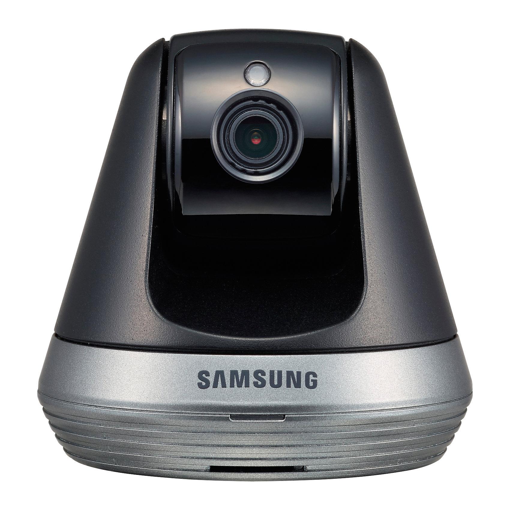 Видеоняня Samsung Wi-Fi SmartCam SNH-V6410PNДетская бытовая техника<br>Видеоняня Wi-Fi SmartCam SNH-V6410PN, Samsung (Самсунг)<br><br>Характеристики:<br><br>• подходит для планшетов, смартфонов и компьютеров<br>• доступ из любой точки мира<br>• высокое качество изображения в формате Full HD 1080p<br>• автоматическое оповещение при плаче или движении<br>• автоматическое включение ночного видения<br>• несколько зон отслеживания<br>• удаленное управление поворотом камеры<br>• двухсторонняя связь<br>• возможность записи<br>• поддержка iOS 6 (или выше), Android, Windows, Mac<br>• регулировка наклона<br>• в комплекте: камера, адаптер, инструкция<br>• сеть: 802.11 b/g/n Wi-Fi<br>• размер камеры: 8,5х8,5х8,4 см<br>• размер упаковки: 24х10х10 см<br>• вес: 600 грамм<br><br>SNH-V6410PN - современная видеоняня, с которой вы всегда будете уверены в безопасности ребенка. Модель совместима с планшетами, компьютерами и смартфонами, практически с любой операционной системой. В случае обнаружения плача или движения видеоняня подает сигнал на ваше устройство. <br><br>В темное время суток включается режим ночного видения. Изображение в формате Full HD 1080p порадует вас качественной картинкой. Камера автоматически поворачивается, следуя за движением ребенка. Также, вы сможете управлять поворотом камеры со своего мобильного устройства.<br><br>Видеоняня оснащена возможностью записи видео и фото.  Есть слот для карты памяти SDXC. Камера оснащена автоматической компенсацией изображения при повышенной яркости.<br><br>Видеоняню Wi-Fi SmartCam SNH-V6410PN, Samsung (Самсунг) можно купить в нашем интернет-магазине.<br><br>Ширина мм: 100<br>Глубина мм: 240<br>Высота мм: 90<br>Вес г: 1001<br>Возраст от месяцев: 0<br>Возраст до месяцев: 1188<br>Пол: Унисекс<br>Возраст: Детский<br>SKU: 5516700