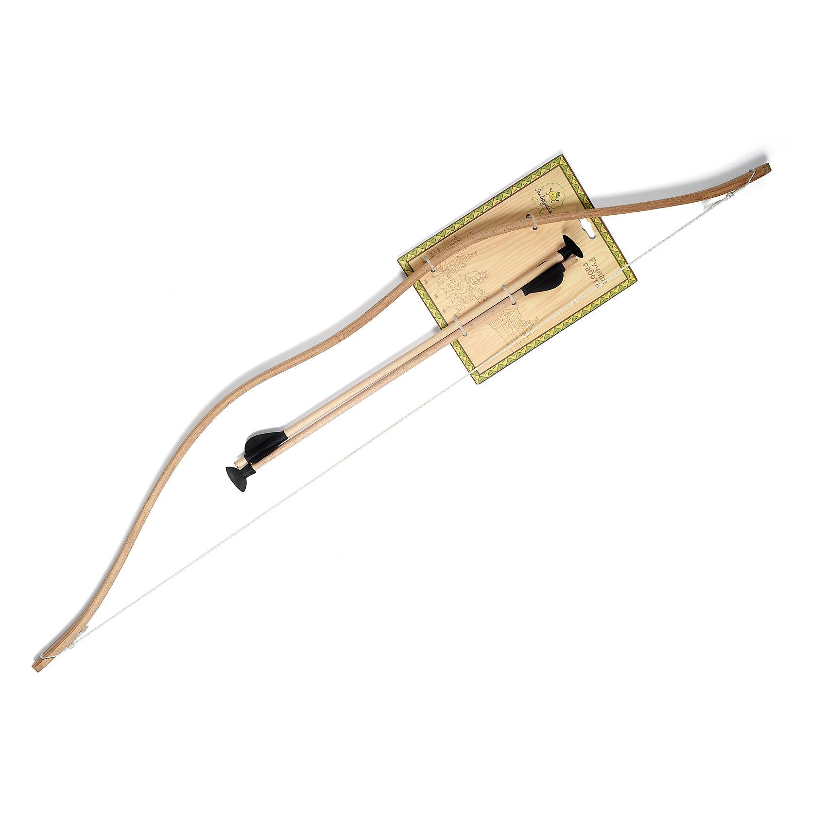 Комплект стрел для лука 2 шт, ЯиГрушкаИгрушечное оружие<br>Характеристики товара:<br><br>• возраст: от 4 лет<br>• материал: дерево<br>• в наборе 2 стрелы<br>• длина стрелы 40 см<br>• размер упаковки 46,5х12х3,5 см<br>• вес упаковки 60 г.<br>• страна бренда: Россия<br>• страна производитель: Россия<br><br>Комплект стрел для лука, 2 шт. ЯиГрушка — необходимый атрибут для проведения соревнований среди юных лучников. Дети смогут разнообразить прогулку на свежем воздухе, устроив состязание на определение самого меткого стрелка.<br><br>Стрелы изготовлены из дерева. Наконечник стрелы не острый, с резиновой накладкой, что исключает нанесение случайных травм.<br><br>Комплект стрел для лука, 2 шт. ЯиГрушка можно приобрести в нашем интернет-магазине.<br><br>Ширина мм: 120<br>Глубина мм: 35<br>Высота мм: 465<br>Вес г: 60<br>Возраст от месяцев: 36<br>Возраст до месяцев: 2147483647<br>Пол: Мужской<br>Возраст: Детский<br>SKU: 5516724