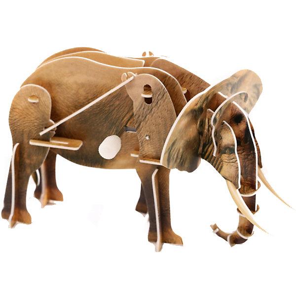 Конструктор – 3D пазл заводной: Слон, UF3D пазлы<br>Пазл «Слон» с заводным механизмом – это качественная и интересная игрушка, которая развивает моторику и пространственное мышление. Пазл создается без клея, он складывается из пластиковых деталей, которые вставляются в специальные пазы. Одна из деталей пазла представляет собой коробочку с заводным механизмом. Она становится центральной частью фигурки слона. Заведя игрушку, можно будет наблюдать, как слон идет, перебирая лапами.<br>Ширина мм: 135; Глубина мм: 100; Высота мм: 25; Вес г: 47; Возраст от месяцев: 72; Возраст до месяцев: 1188; Пол: Унисекс; Возраст: Детский; SKU: 5516763;