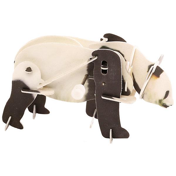 Конструктор – 3D пазл заводной: Панда, UFПластмассовые конструкторы<br>Интересная развивающая активность – сборка объемного пазла – позволит ребенку создать своими руками необычную игрушку. Особенность этой игрушки в том, что 3D-пазл оснащается специальным заводным механизмом. Благодаря ему объемная панда способна передвигать лапами, ходить, словно настоящая. Сборка осуществляется без клея. Специальные пластиковые детали нужно будет выдавить из листов, в которых они находятся, а затем соединить друг с другом, вставив в пазы.<br>Ширина мм: 135; Глубина мм: 100; Высота мм: 25; Вес г: 47; Возраст от месяцев: 72; Возраст до месяцев: 1188; Пол: Унисекс; Возраст: Детский; SKU: 5516764;