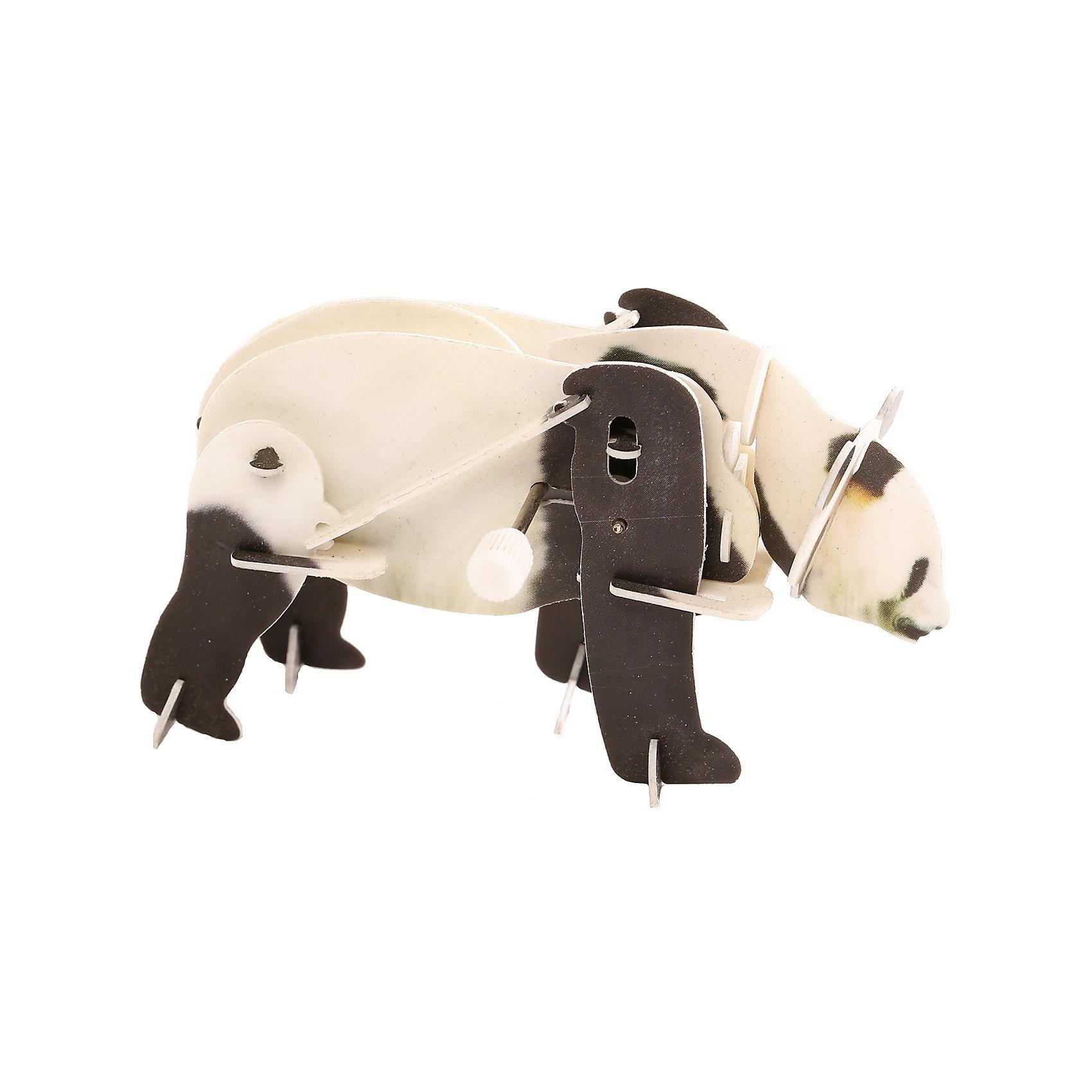 Конструктор – 3D пазл заводной: Панда, UF3D пазлы<br>Интересная развивающая активность – сборка объемного пазла – позволит ребенку создать своими руками необычную игрушку. Особенность этой игрушки в том, что 3D-пазл оснащается специальным заводным механизмом. Благодаря ему объемная панда способна передвигать лапами, ходить, словно настоящая. Сборка осуществляется без клея. Специальные пластиковые детали нужно будет выдавить из листов, в которых они находятся, а затем соединить друг с другом, вставив в пазы.<br><br>Ширина мм: 135<br>Глубина мм: 100<br>Высота мм: 25<br>Вес г: 47<br>Возраст от месяцев: 72<br>Возраст до месяцев: 1188<br>Пол: Унисекс<br>Возраст: Детский<br>SKU: 5516764