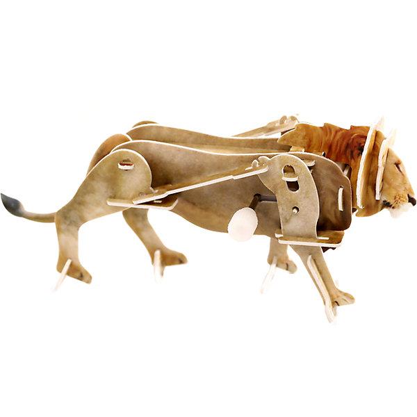 Конструктор – 3D пазл заводной: Лев, UFПластмассовые конструкторы<br>Заводной 3D-пазл «Лев» - это увлекательная головоломка с интересной функцией. Для начала ребенку нужно будет своими руками собрать объемную фигурку льва из деталей для сборки объемного пазла. Детали созданы из пластика, вырезаны лазером. Собираются они без клея – достаточно вставить детали в специальные пазы. К пазлу присоединяется маленький заводной механизм. Именно он может привести фигурку в движение. И собранный объемный лев будет перебирать лапами, пока не кончится завод!<br><br>Ширина мм: 135<br>Глубина мм: 100<br>Высота мм: 25<br>Вес г: 47<br>Возраст от месяцев: 72<br>Возраст до месяцев: 1188<br>Пол: Унисекс<br>Возраст: Детский<br>SKU: 5516766
