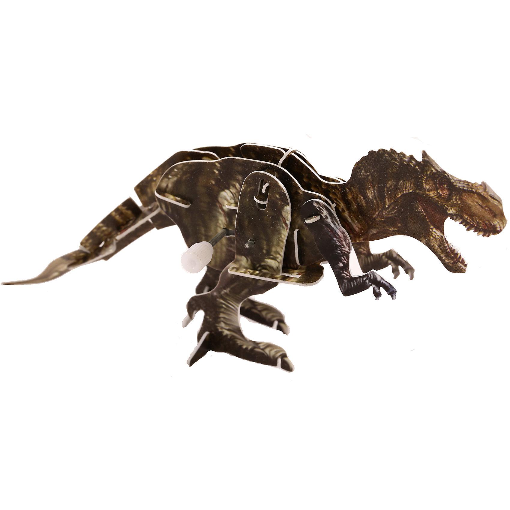 Конструктор – 3D пазл заводной: Тирекс, UFПластмассовые конструкторы<br>Из этого набора ребенок сможет своими руками собрать объемную фигурку тираннозавра, причем сборка производится без клея. Детали из плотного пластика нужно вставить в специальные пазы. Самое интересное в этом пазле, что среди деталей имеется пластиковая коробочка с заводным механизмом внутри. Она и станет центральной частью пазла. Получившаяся фигурка динозавра сможет «ходить», передвигая лапами, пока не кончится заряд.<br><br>Ширина мм: 135<br>Глубина мм: 100<br>Высота мм: 25<br>Вес г: 47<br>Возраст от месяцев: 72<br>Возраст до месяцев: 1188<br>Пол: Унисекс<br>Возраст: Детский<br>SKU: 5516768