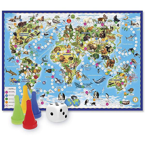 Игра-ходилка с фишками Животный мир ЗемлиНастольные игры ходилки<br>Характеристики товара:<br><br>• возраст от 6 лет;<br>• материал: картон;<br>• количество игроков: от 2 до 4<br>• время одной игры: от 20 минут<br>• в комплекте: игровое поле, 4 фишки, кубик;<br>• размер игрового поля 59х42 см;<br>• размер упаковки 30х21х2 см;<br>• страна производитель: Россия.<br><br>Игра-ходилка «Животный мир Земли» ГеоДом - увлекательная игра, которая познакомит детей с удивительным миром животных на нашей планете. Бросая кубик, в игре предстоит продвигаться вперед. По пути дети узнают много интересных фактов об окружающем мире, познакомятся с нашей планетой, картой мира, удивительными животными, обитающими в разных странах.<br><br>Игру-ходилку «Животный мир Земли» ГеоДом можно приобрести в нашем интернет-магазине.<br><br>Ширина мм: 595<br>Глубина мм: 420<br>Высота мм: 50<br>Вес г: 83<br>Возраст от месяцев: 36<br>Возраст до месяцев: 2147483647<br>Пол: Унисекс<br>Возраст: Детский<br>SKU: 5518169
