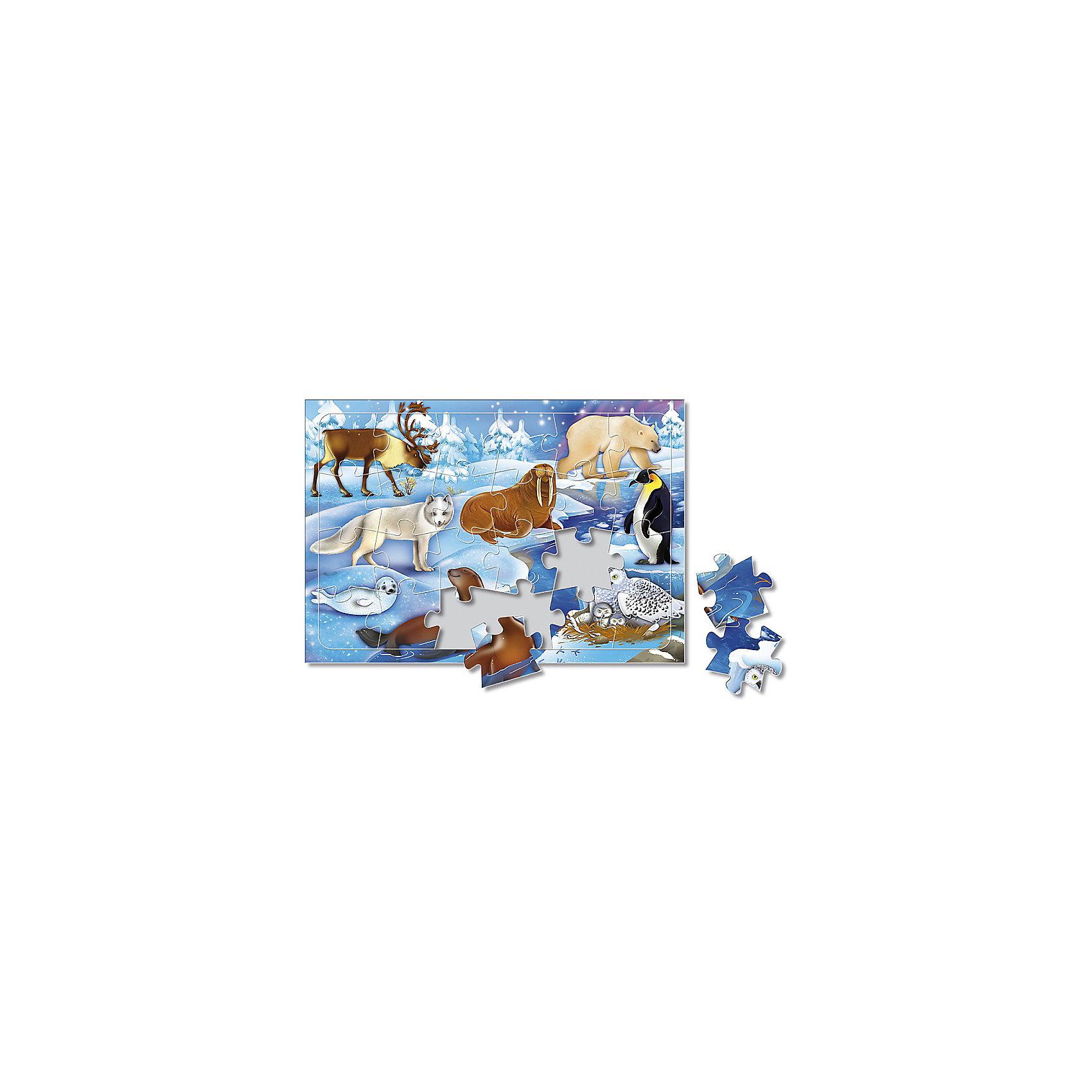 Пазл листовой на подложке В снегах, 24 деталиПазлы для малышей<br>Характеристики товара:<br><br>• возраст от 3 лет;<br>• материал: картон;<br>• в комплекте: 24 детали;<br>• размер пазла 20х28 см;<br>• размер упаковки 29х20х5 см;<br>• страна производитель: Россия.<br><br>Пазл листовой на подложке «В снегах» ГеоДом познакомит малышей с животными Северного полюса. Это не только увлекательное, но и познавательное занятие. В процессе сборки пазла у малышей развивается пространственное мышление, моторика рук, внимательность.<br><br>Пазл листовой на подложке «В снегах» ГеоДом можно приобрести в нашем интернет-магазине.<br><br>Ширина мм: 290<br>Глубина мм: 200<br>Высота мм: 50<br>Вес г: 132<br>Возраст от месяцев: 36<br>Возраст до месяцев: 2147483647<br>Пол: Унисекс<br>Возраст: Детский<br>SKU: 5518181