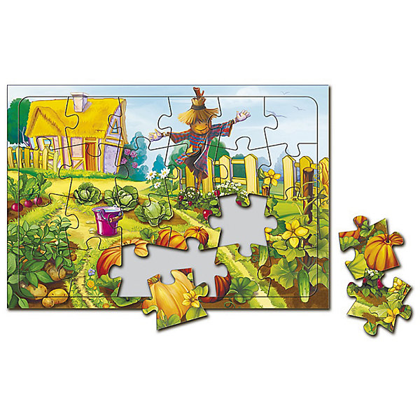 Пазл листовой на подложке В огороде, 24 деталиПазлы для малышей<br>Характеристики товара:<br><br>• возраст от 3 лет;<br>• материал: картон;<br>• в комплекте: 24 детали;<br>• размер пазла 20х28,5 см;<br>• размер упаковки 29х20х5 см;<br>• страна производитель: Россия.<br><br>Пазл листовой на подложке «В огороде» ГеоДом позволит малышам весело и увлекательно провести время, собирая яркую картинку. Малыш не только интересно проведет время, но и узнает, какие растения растут на огороде. В процессе сборки пазла у малышей развивается пространственное мышление, моторика рук, внимательность.<br><br>Пазл листовой на подложке «В огороде» ГеоДом можно приобрести в нашем интернет-магазине.<br><br>Ширина мм: 290<br>Глубина мм: 200<br>Высота мм: 50<br>Вес г: 132<br>Возраст от месяцев: 36<br>Возраст до месяцев: 2147483647<br>Пол: Унисекс<br>Возраст: Детский<br>SKU: 5518184