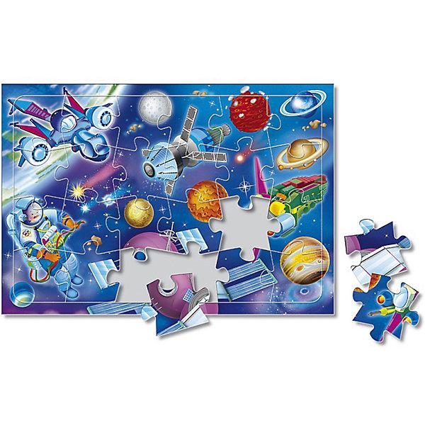 Пазл листовой на подложке В космосе, 24 деталиПазлы для малышей<br>Характеристики товара:<br><br>• возраст от 3 лет;<br>• материал: картон;<br>• в комплекте: 24 детали;<br>• размер пазла 20х28,5 см;<br>• размер упаковки 29х20х5 см;<br>• страна производитель: Россия.<br><br>Пазл листовой на подложке «В космосе» ГеоДом позволит малышам весело и познавательно провести время. Малыш не только увлекательно проведет время, но и познакомится с планетами и звездами нашей Вселенной. В процессе сборки пазла у малышей развивается пространственное мышление, моторика рук, внимательность.<br><br>Пазл листовой на подложке «В космосе» ГеоДом можно приобрести в нашем интернет-магазине.<br>Ширина мм: 290; Глубина мм: 200; Высота мм: 50; Вес г: 132; Возраст от месяцев: 36; Возраст до месяцев: 2147483647; Пол: Унисекс; Возраст: Детский; SKU: 5518187;