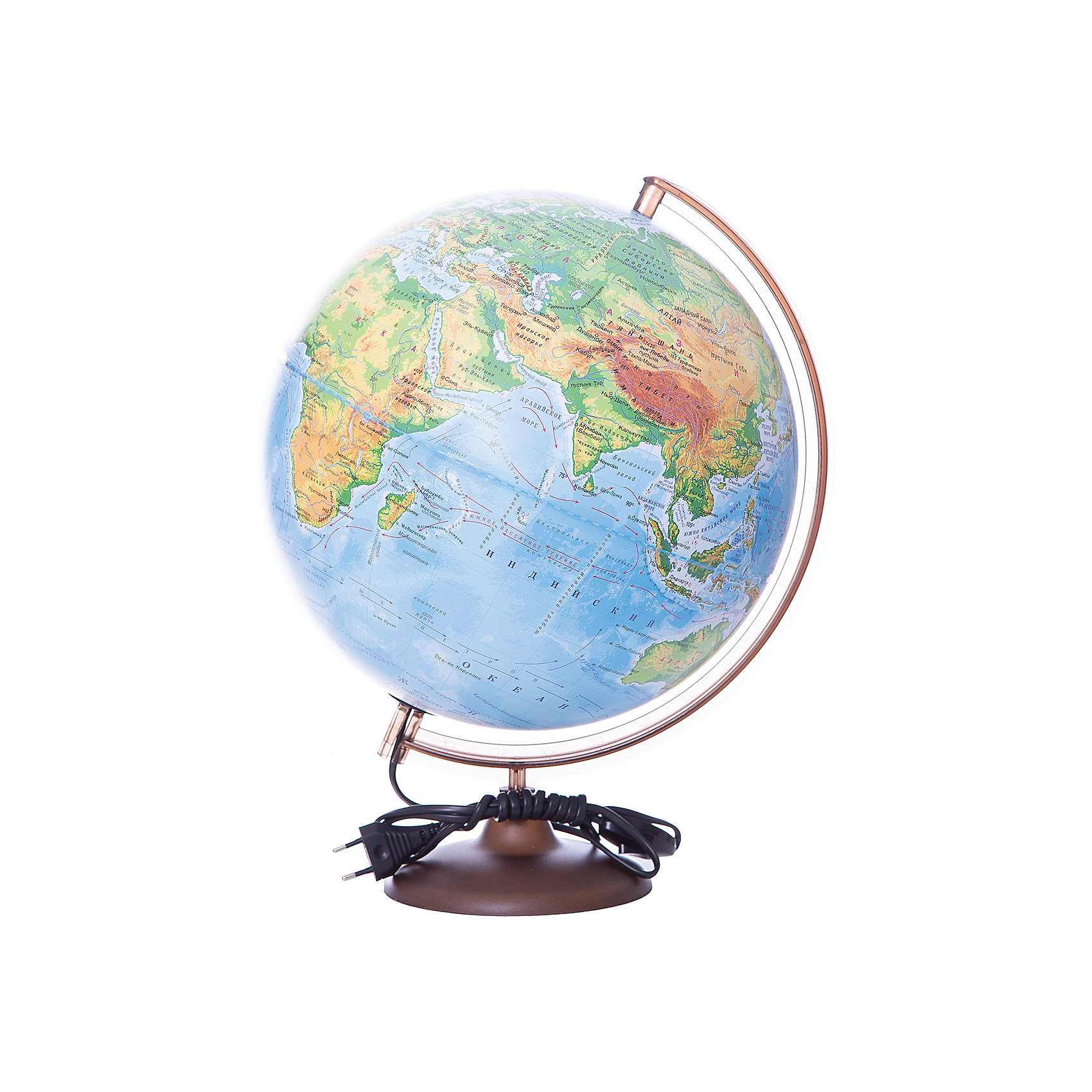Глобус Земли физический с подсветкой, диаметр 320 ммДиаметр: 320 мм<br><br>Масштаб: 1:40000000<br><br>Материал подставки: Пластик<br><br>Цвет подставки: Черный<br><br>Размер коробки: 343х343х355 мм.<br><br>Ширина мм: 343<br>Глубина мм: 343<br>Высота мм: 355<br>Вес г: 1025<br>Возраст от месяцев: 72<br>Возраст до месяцев: 2147483647<br>Пол: Унисекс<br>Возраст: Детский<br>SKU: 5518200