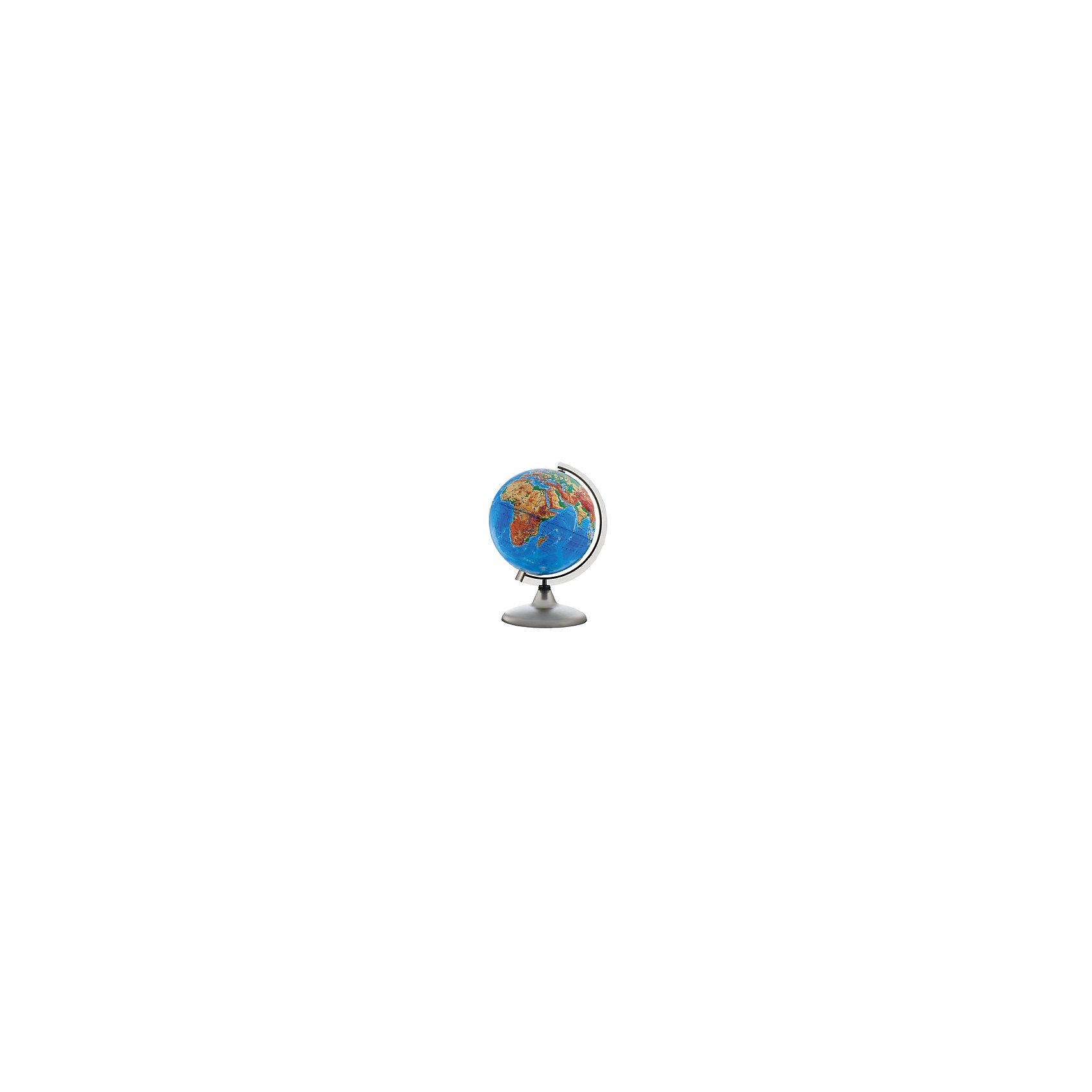 Глобус Земли физический рельефный, диаметр 320 ммГлобусы<br>Характеристики товара:<br><br>• возраст от 6 лет;<br>• материал: пластик;<br>• цвет подставки: чёрный<br>• диаметр глобуса 320 мм;<br>• масштаб 1:40000000;<br>• размер упаковки 35,5х34,3х34,3 см;<br>• вес упаковки 950 гр.;<br>• страна производитель: Россия.<br><br>Глобус Земли физический рельефный, 320 мм Глобусный мир — уменьшенная копия нашей планеты. Глобус станет отличным дополнением для школьника или студента. На нем нанесены моря, океаны, рельеф суши, острова, материки. Рельефная поверхность глобуса позволяет поближе узнать все о рельефе нашей планеты. <br><br>Глобус Земли физический рельефный 320 мм Глобусный мир можно приобрести в нашем интернет-магазине.<br><br>Ширина мм: 343<br>Глубина мм: 343<br>Высота мм: 355<br>Вес г: 950<br>Возраст от месяцев: 72<br>Возраст до месяцев: 2147483647<br>Пол: Унисекс<br>Возраст: Детский<br>SKU: 5518204