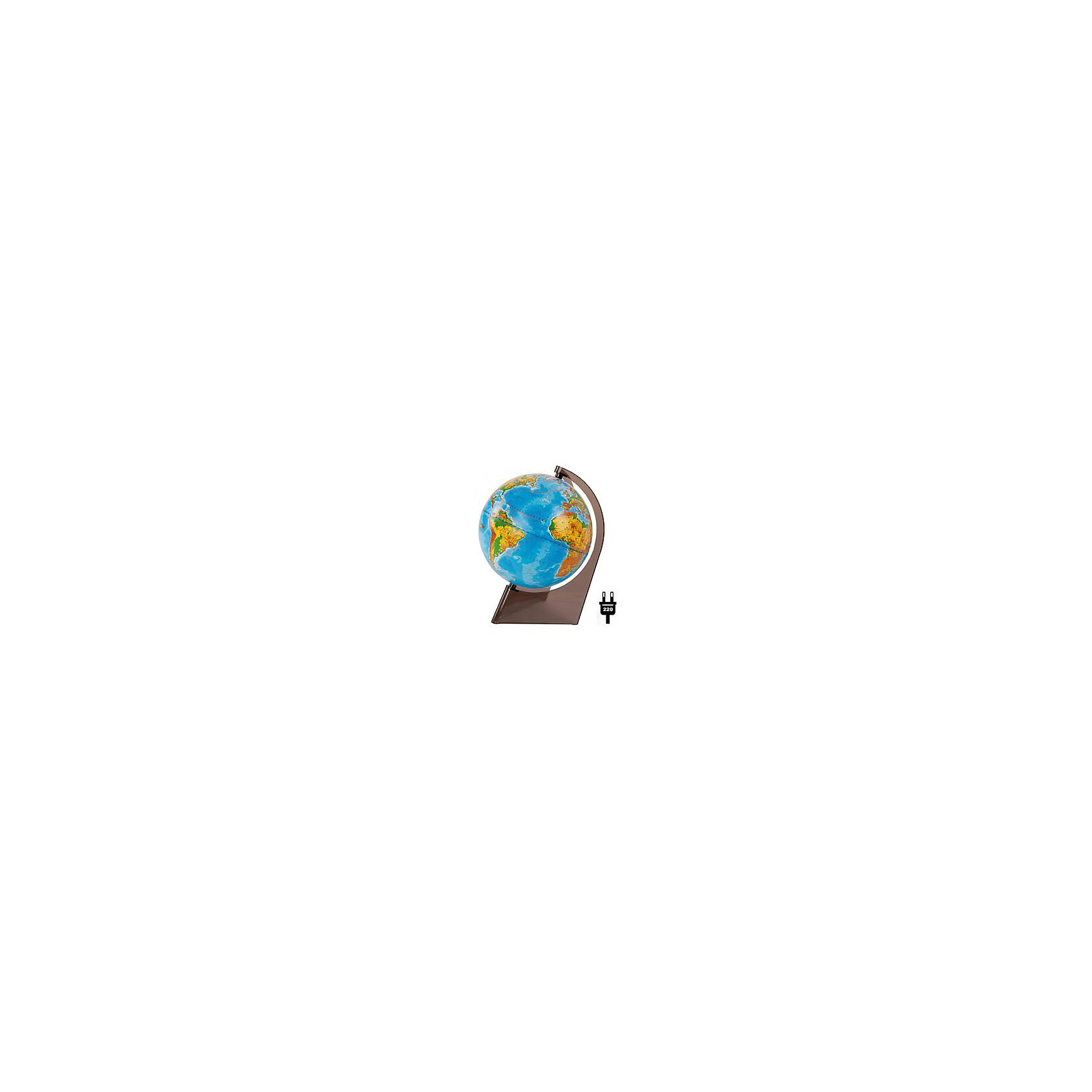 Глобус Земли физический на треугольнике с подсветкой, диаметр 210 ммДиаметр: 210 мм<br><br>Масштаб: 1:60000000<br><br>Материал подставки: Пластик<br><br>Цвет подставки: Прозрачный<br><br>Ширина мм: 217<br>Глубина мм: 217<br>Высота мм: 315<br>Вес г: 800<br>Возраст от месяцев: 72<br>Возраст до месяцев: 2147483647<br>Пол: Унисекс<br>Возраст: Детский<br>SKU: 5518205