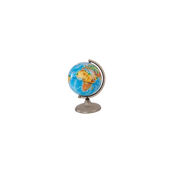 Глобус Земли физический, диаметр 210 ммГлобусы<br>Характеристики товара:<br><br>• возраст от 6 лет;<br>• материал: пластик;<br>• цвет подставки: прозрачный<br>• диаметр глобуса 210 мм;<br>• масштаб 1:60000000;<br>• размер упаковки 30х21,7х21,7 см;<br>• вес упаковки 180 гр.;<br>• страна производитель: Россия.<br><br>Глобус Земли физический 210 мм Глобусный мир — уменьшенная копия нашей планеты. Глобус станет отличным дополнением во время изучения географии для школьника или студента. На нем можно найти расположение стран и их столиц, а также поближе познакомиться с рельефом и строением нашей планеты. На нем нанесены материки, океаны и моря, острова, глубоководные впадины, горы и возвышенности.<br><br>Глобус Земли физический 210 мм Глобусный мир можно приобрести в нашем интернет-магазине.<br><br>Ширина мм: 217<br>Глубина мм: 217<br>Высота мм: 300<br>Вес г: 180<br>Возраст от месяцев: 72<br>Возраст до месяцев: 2147483647<br>Пол: Унисекс<br>Возраст: Детский<br>SKU: 5518209