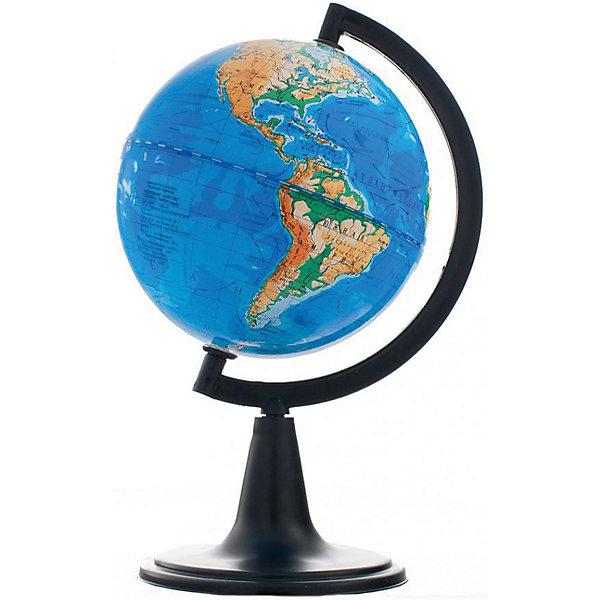 Глобус Земли физический, диаметр 120 ммГлобусы<br>Характеристики товара:<br><br>• возраст от 6 лет;<br>• материал: пластик;<br>• цвет подставки: чёрный<br>• диаметр глобуса 120 мм;<br>• масштаб 1:106000000;<br>• размер упаковки 43,5х46,8х46,8 см;<br>• вес упаковки 180 гр.;<br>• страна производитель: Россия.<br><br>Глобус Земли физический 120 мм Глобусный мир — уменьшенная копия нашей планеты. Глобус станет отличным дополнением во время изучения географии для школьника или студента. На нем можно найти расположение стран и их столиц, а также поближе познакомиться с рельефом и строением нашей планеты. На нем нанесены материки, океаны и моря, острова, глубоководные впадины, горы и возвышенности.<br><br>Глобус Земли физический 120 мм Глобусный мир можно приобрести в нашем интернет-магазине.<br><br>Ширина мм: 468<br>Глубина мм: 468<br>Высота мм: 435<br>Вес г: 180<br>Возраст от месяцев: 72<br>Возраст до месяцев: 2147483647<br>Пол: Унисекс<br>Возраст: Детский<br>SKU: 5518211